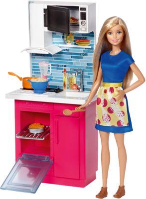 Mattel Набор мебели с куклой Кухня , Barbie