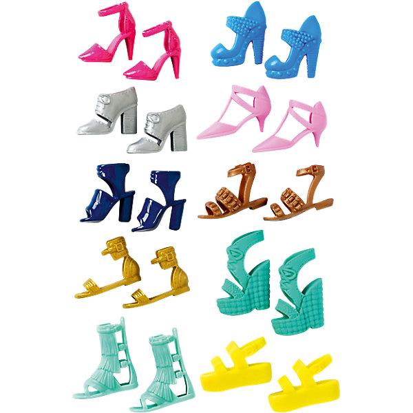 Наборы обуви для Barbie, в ассортиментеBarbie<br>Наборы обуви для Barbie (Барби), в ассортименте<br><br>Характеристики:<br><br>• набор обуви для любой ситуации<br>• в комплекте: 5 пар<br>• материал: пластик<br>• вес: 30 грамм<br><br>В комплект входят 5 пар обуви, изготовленной из пластика. Любая пара сделает куклу королевой вечера! Выбирайте обувь, подходящую к нужному мероприятию, создавайте уникальные образы и наслаждайтесь стилем и красотой своей Барби!<br><br>ВНИМАНИЕ! Данный артикул имеется в наличии в разных вариантах исполнения. Заранее выбрать определенный вариант нельзя. При заказе нескольких наборов возможно получение одинаковых.<br><br>Наборы обуви для Barbie (Барби), в ассортименте можно купить в нашем интернет-магазине.<br><br>Ширина мм: 156<br>Глубина мм: 83<br>Высота мм: 20<br>Вес г: 28<br>Возраст от месяцев: 36<br>Возраст до месяцев: 72<br>Пол: Женский<br>Возраст: Детский<br>SKU: 5257140