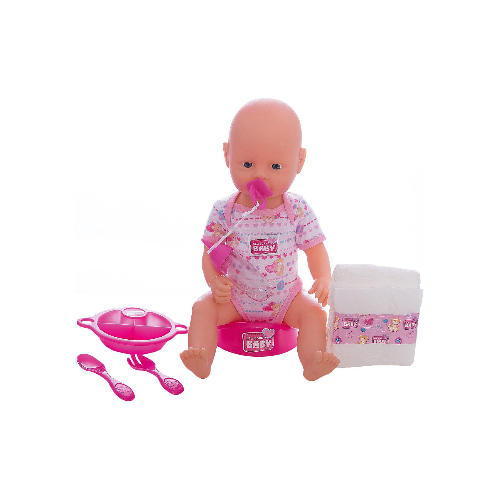 Пупс (пьет и писает), 38 см, SimbaХарактеристики:<br><br>• высота куклы: 38 см;<br>• особенности: пупс пьет и писает;<br>• голова пупса поворачивается, ручки и ножки сгибаются в суставах, кукла лежит или сидит;<br>• аксессуары: горшок, подгузник, пустышка, бутылочка, тарелочка с порционными отделениями, ложечка;<br>• материал: винил, пластик, текстиль;<br>• размер упаковки: 33,5х14,5х38 см.<br><br>Ваша девочка сможет позаботиться о пупсике, накормить его, уложить спатки. А когда настанет время, необходимо усадить куклу на горшок. Бутылочка для кормления наполняется водой, малыш пьет, затем ходит на горшок или в «наполняет» памперс. В процессе игры развивается фантазия, воображение, девочка обыгрывает различные сюжетно-ролевые ситуации. <br><br>Пупс (пьет и писает), 38 см, Simba можно купить в нашем магазине.<br><br>Ширина мм: 140<br>Глубина мм: 270<br>Высота мм: 390<br>Вес г: 1100<br>Возраст от месяцев: 36<br>Возраст до месяцев: 120<br>Пол: Женский<br>Возраст: Детский<br>SKU: 5258954