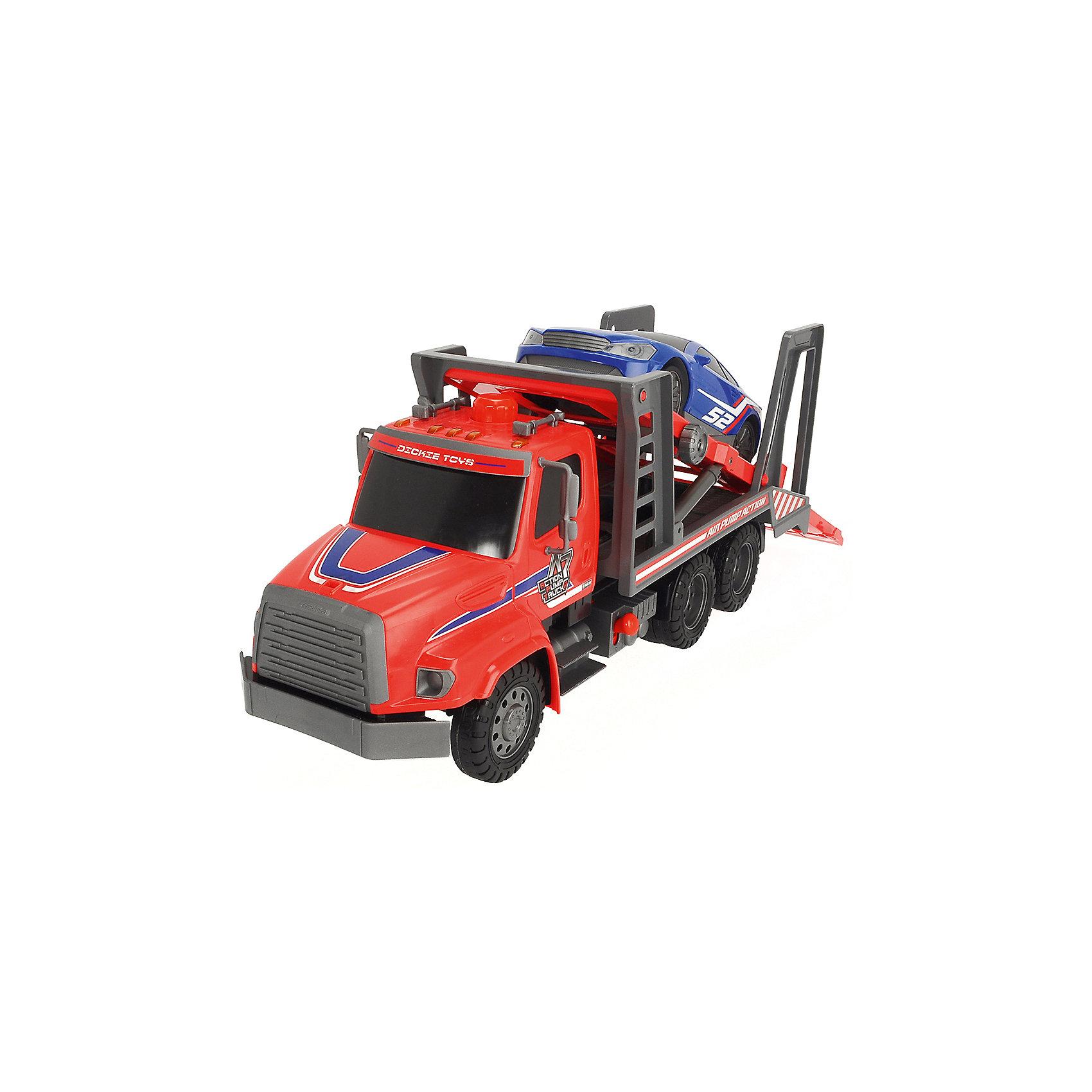 Транспортер AirPump, 57 см, Dickie ToysИгровые наборы<br>Характеристики:<br><br>• длина транспортера: 57 см;<br>• помповый насос работает без батареек;<br>• комплектация: транспортер, легковая машинка;<br>• размер упаковки: 59х28х19 см.<br><br>Габаритный транспортер Dickie Toys с системой AirPump оснащен подвижными элементами. Машинки загоняются в транспортер по специальному выдвижному пандусу, платформа с машинкой поднимается и опускается, срабатывает помповый механизм. Система AirPump отвечает за процесс накачки воздуха. Игра обогащает фантазию ребенка, знакомит с работой простых механизмов.<br><br>Транспортер AirPump, 57 см, Dickie Toys можно купить в нашем магазине.<br><br>Ширина мм: 190<br>Глубина мм: 280<br>Высота мм: 590<br>Вес г: 2048<br>Возраст от месяцев: 36<br>Возраст до месяцев: 120<br>Пол: Мужской<br>Возраст: Детский<br>SKU: 5258957
