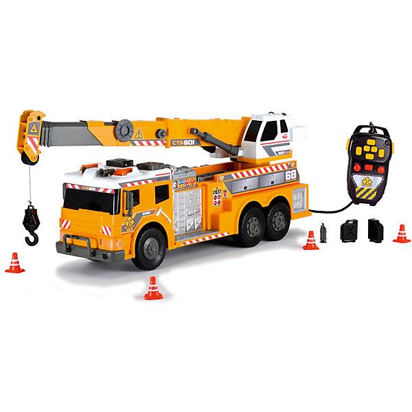 Машинка с подъемным краном на д/у, 62 см, Dickie ToysМашинки<br>Характеристики:<br><br>• длина автомобиля: 62 см;<br>• световые и звуковые эффекты;<br>• дистанционное управление;<br>• подвижные элементы;<br>• аксессуары: 4 конуса, 2 канистры, огнетушитель;<br>• размер упаковки: 70х26х18 см;<br>• вес: 1 кг.<br><br>Стрела крана поднимается и опускается, платформа поворачивается. Пульт управления позволяет приводить кран в движение. Вытягивается крюк на веревке. Машина на свободном ходу. Батарейки входят в комплект набора, 2 шт. типа АА.<br><br>Машинку с подъемным краном на д/у, 62 см, Dickie Toys можно купить в нашем магазине.<br><br>Ширина мм: 180<br>Глубина мм: 279<br>Высота мм: 738<br>Вес г: 2590<br>Возраст от месяцев: 36<br>Возраст до месяцев: 120<br>Пол: Мужской<br>Возраст: Детский<br>SKU: 5258958