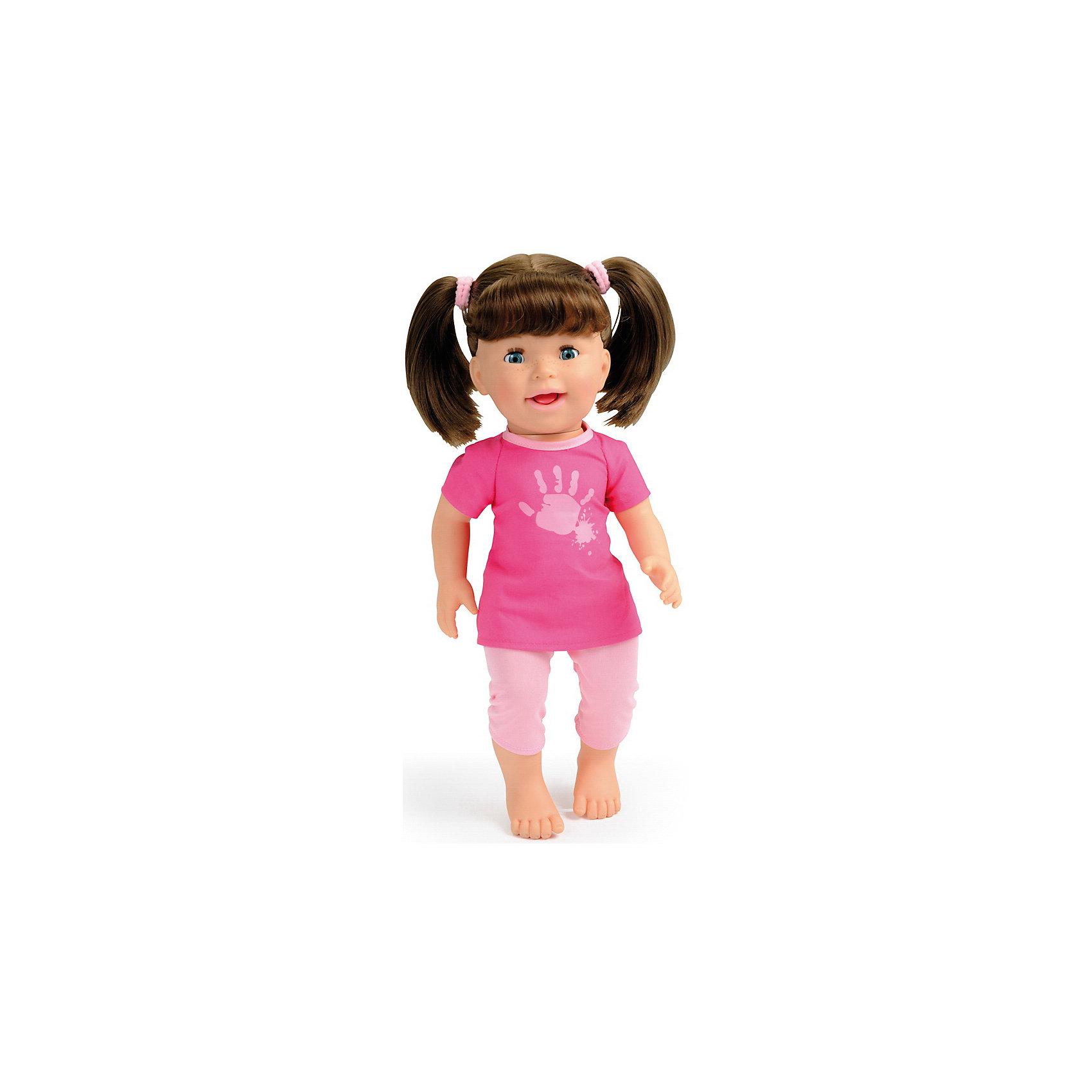 Кукла интерактивная Лили, 37 см, SmobyИнтерактивные куклы<br>Характеристики:<br><br>• высота куклы: 37 см;<br>• особенности куклы: показывает язычок, смеется, причмокивает во время еды;<br>• аксессуары для игры: ложечка, поильник, пирожное;<br>• материал: пластик, текстиль, нейлон;<br>• размер упаковки: 40х12х30 см;<br>• какие требуются батарейки: 3 шт. типа АА;<br>• батарейки в комплект не входят.<br><br>Кукла-хулиганка Лили – озорная девчушка с двумя хвостиками. Лили так заигрывается, что даже показывает всем язык. Во время еды издает причмокивающие звуки, с удовольствием кушает пирожные. Если куколку пощекотать, Лили будет хихикать.<br><br>Куклу интерактивную Лили, 37 см, Smoby можно купить в нашем магазине.<br><br>Ширина мм: 300<br>Глубина мм: 120<br>Высота мм: 400<br>Вес г: 1400<br>Возраст от месяцев: 12<br>Возраст до месяцев: 48<br>Пол: Женский<br>Возраст: Детский<br>SKU: 5258964