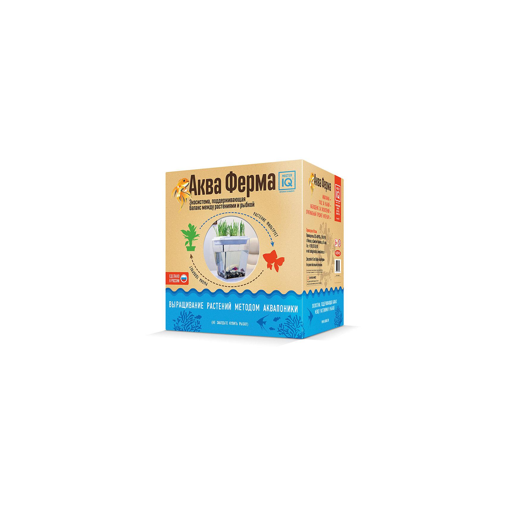 АквафермаХарактеристики аквафермы:<br><br>• возраст: от 6 лет<br>• пол: для мальчиков и девочек<br>• комплект: семена, грунтовой субстрат, 5 горшочков, контейнер для аквапоники, аквабокс, помпа, камешки, аквахимия, корм.<br>• материал: природные материалы, пластик.<br>• размер упаковки: 31.2х33.5х25.5 см.<br>• упаковка: картонная коробка.<br>• бренд: Каррас<br>• страна обладатель бренда: Россия.<br><br>Набор для экспериментов Акваферма от бренда Каррас - это не совсем обычный аквариум с растениями. Это целая система, которая позволяет естественным путем очищать воду и выращивать растения на экологическом удобрении без химикатов. В наборе есть все компоненты, которые потребуются для создания нового домика для рыбки. Приготовив аквариум и разместив все нужные аксессуары, надо установить по инструкции насос и остальные детали, которые будут потом вместе работать, образуя поддерживающую экосистему между рыбкой и растениями.<br><br>Растения посадить можно из набора или же выбрать другие, неприхотливые, но полезные в домашних условиях, травы. Рыбок стоит выбирать, учитывая, что они могут жить в воде комнатной температуры. Все, что остается делать - это кормить рыбок и время от времени срезать нужное количество трав для личного пользования. Вода будет сама очищаться при помощи насоса, поднимая естественные отходы рыбок к корням растений, тем самым создавая им удобрение. <br><br>Набор для экспериментов Акваферма от бренда Каррас можно купить в нашем интернет-магазине.<br><br>Ширина мм: 312<br>Глубина мм: 255<br>Высота мм: 335<br>Вес г: 3<br>Возраст от месяцев: 72<br>Возраст до месяцев: 192<br>Пол: Унисекс<br>Возраст: Детский<br>SKU: 5259957