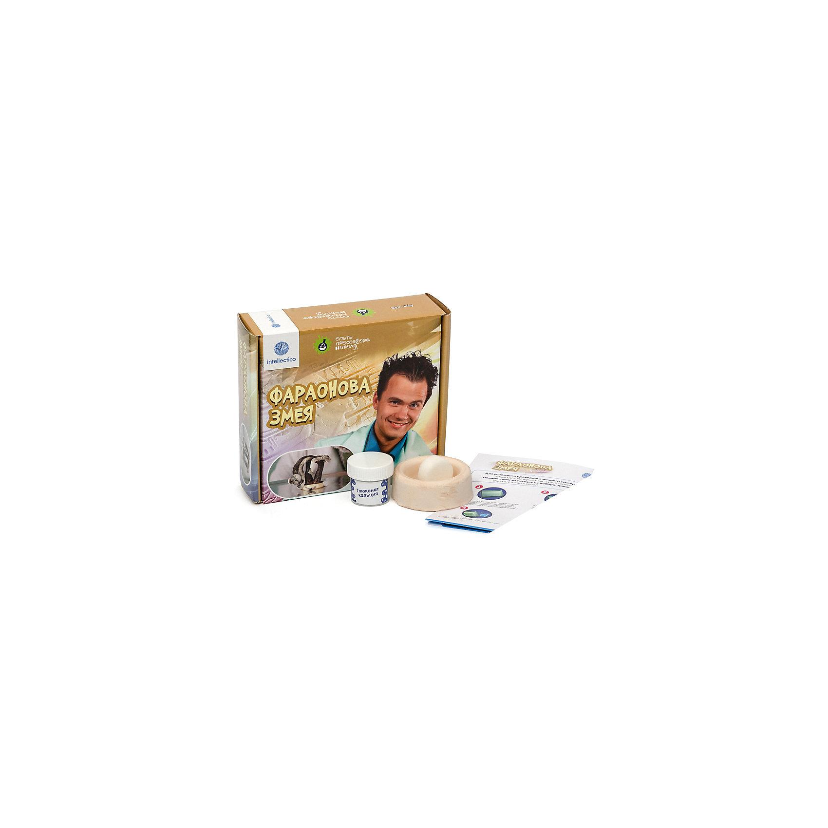 Набор для опытов с профессором Николя Фараонова змеяХимия<br>Характеристики товара:<br><br>• возраст: от 8 лет<br>• комплект: чашка - керамика, сухое горячее-уратропин, реактивы - глюконат кальция;<br>• размер упаковки: 15х16х5 см;<br>• упаковка: картонная коробка;<br>• страна бренда: Россия.<br><br>«Опыты профессора Николя» познакомят ребенка с азами увлекательной науки — химии. С  таким интересным набором каждый сможет почувствовать себя настоящим ученым. <br><br>В представленном комплекте есть  все для опыта «Фараонова змея»: керамическая чашка, сухое горючее и реактивы. Подобные опыты очень интересно проводить в кругу друзей. «Опыты профессора Николя» безопасны для детей, но проводить их лучше всего в компании взрослых.<br><br>«Опыты профессора Николя»  «Фараонова змея» можно купить в нашем интернет-магазине.<br><br>Ширина мм: 175<br>Глубина мм: 155<br>Высота мм: 50<br>Вес г: 160<br>Возраст от месяцев: 96<br>Возраст до месяцев: 2147483647<br>Пол: Унисекс<br>Возраст: Детский<br>SKU: 5263179
