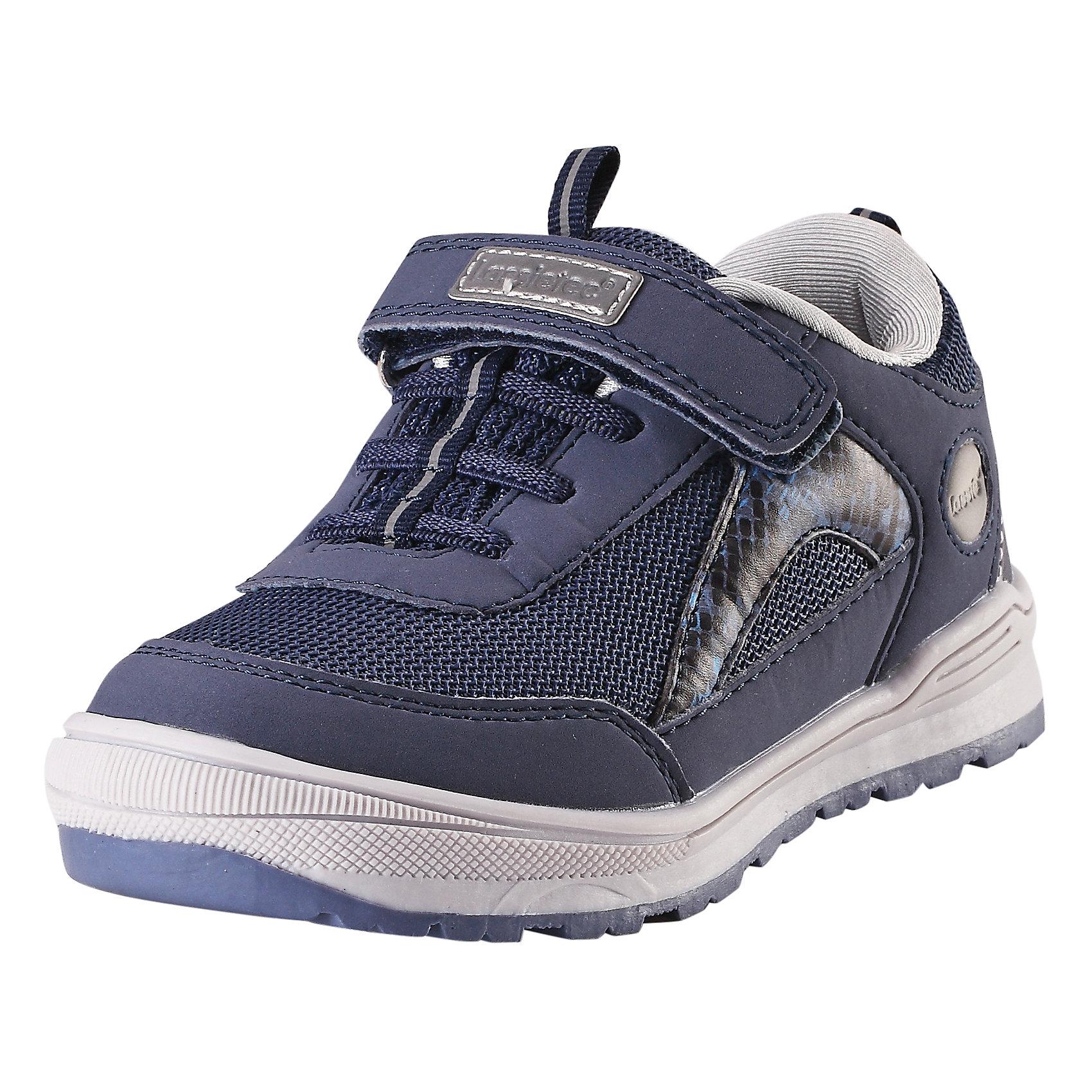 Кроссовки LASSIEОбувь<br>Характеристики товара:<br><br>• цвет: синий<br>• состав: верх - ПУ/ПЭ, подошва - резина термопластичная<br>• застежка: липучка, шнуровка<br>• мягкая текстильная подкладка<br>• усиленные пятка и носок<br>• съемные стельки<br>• светоотражающие детали<br>• страна производства: Китай<br>• страна бренда: Финляндия<br>• коллекция: весна-лето 2017<br><br>Демисезонная обувь может быть модной и комфортной одновременно! Удобные стильные кроссовки помогут обеспечить ребенку комфорт и дополнить наряд. Они отлично смотрятся с различной одеждой. Кроссовки удобно сидят на ноге и аккуратно смотрятся. Легко чистятся и долго служат. Продуманная конструкция разрабатывалась специально для детей.<br><br>Обувь и одежда от финского бренда LASSIE пользуются популярностью во многих странах. Они стильные, качественные и удобные. Для производства продукции используются только безопасные, проверенные материалы и фурнитура. Порадуйте ребенка модными и красивыми вещами от Lassie®! <br><br>Кроссовки от финского бренда LASSIE можно купить в нашем интернет-магазине.<br><br>Ширина мм: 262<br>Глубина мм: 176<br>Высота мм: 97<br>Вес г: 427<br>Цвет: синий<br>Возраст от месяцев: 108<br>Возраст до месяцев: 120<br>Пол: Унисекс<br>Возраст: Детский<br>Размер: 33,34,35,24,25,26,27,28,29,30,31,32<br>SKU: 5263331