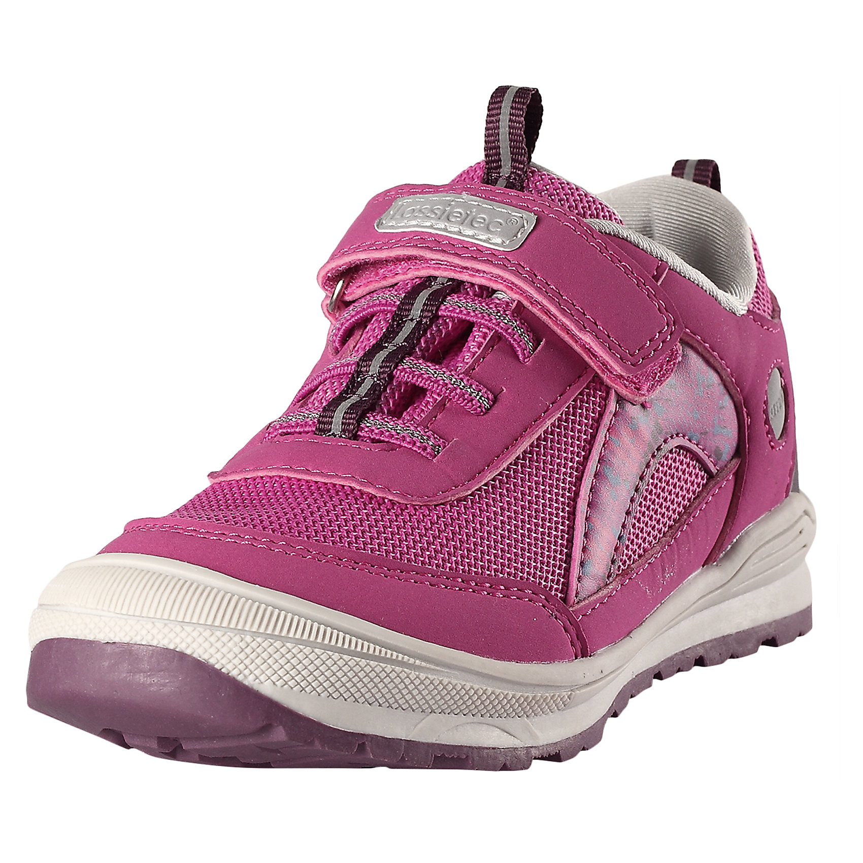 Кроссовки для девочки LASSIEОбувь<br>Характеристики товара:<br><br>• цвет: розовый<br>• состав: верх - ПУ/ПЭ, подошва - резина термопластичная<br>• застежка: липучка, шнуровка<br>• мягкая текстильная подкладка<br>• усиленные пятка и носок<br>• съемные стельки<br>• светоотражающие детали<br>• страна производства: Китай<br>• страна бренда: Финляндия<br>• коллекция: весна-лето 2017<br><br>Демисезонная обувь может быть модной и комфортной одновременно! Удобные стильные кроссовки помогут обеспечить ребенку комфорт и дополнить наряд. Они отлично смотрятся с различной одеждой. Кроссовки удобно сидят на ноге и аккуратно смотрятся. Легко чистятся и долго служат. Продуманная конструкция разрабатывалась специально для детей.<br><br>Обувь и одежда от финского бренда LASSIE пользуются популярностью во многих странах. Они стильные, качественные и удобные. Для производства продукции используются только безопасные, проверенные материалы и фурнитура. Порадуйте ребенка модными и красивыми вещами от Lassie®! <br><br>Кроссовки для девочки от финского бренда LASSIE можно купить в нашем интернет-магазине.<br><br>Ширина мм: 262<br>Глубина мм: 176<br>Высота мм: 97<br>Вес г: 427<br>Цвет: розовый<br>Возраст от месяцев: 48<br>Возраст до месяцев: 60<br>Пол: Женский<br>Возраст: Детский<br>Размер: 28,33,31,24,25,26,27,29,30,32,34,35<br>SKU: 5263344