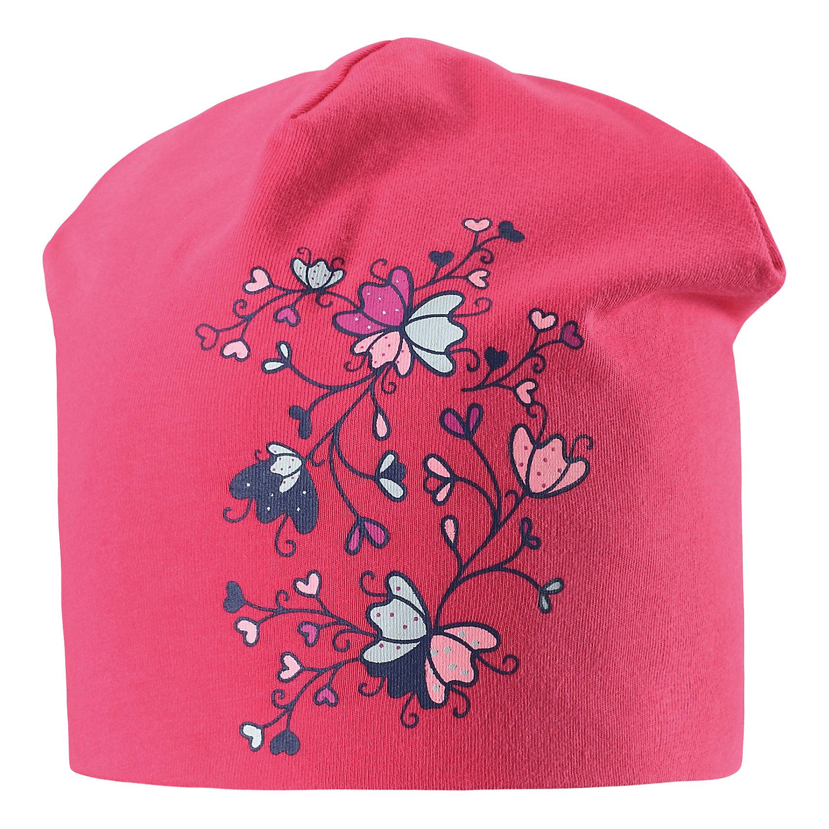 Шапка  для девочки LASSIEШапки и шарфы<br>Характеристики товара:<br><br>• цвет: розовый<br>• температурный режим: от +20°до +5°С<br>• состав: 95% хлопок, 5% эластан<br>• эластичный материал<br>• мягкая сплошная подкладка: смесь хлопка jersey<br>• принт<br>• комфортная посадка<br>• страна производства: Китай<br>• страна бренда: Финляндия<br>• коллекция: весна-лето 2017<br><br>Детский головной убор может быть модным и удобным одновременно! Стильная шапка поможет обеспечить ребенку комфорт и дополнить наряд. Она отлично смотрится с различной одеждой. Шапка удобно сидит и аккуратно выглядит. Проста в уходе, долго служит. Продуманный крой разрабатывался специально для детей.<br><br>Обувь и одежда от финского бренда LASSIE пользуются популярностью во многих странах. Они стильные, качественные и удобные. Для производства продукции используются только безопасные, проверенные материалы и фурнитура. Порадуйте ребенка модными и красивыми вещами от Lassie®! <br><br>Шапку для девочки от финского бренда LASSIE можно купить в нашем интернет-магазине.<br><br>Ширина мм: 89<br>Глубина мм: 117<br>Высота мм: 44<br>Вес г: 155<br>Цвет: розовый<br>Возраст от месяцев: 36<br>Возраст до месяцев: 60<br>Пол: Женский<br>Возраст: Детский<br>Размер: 50-52,46-48,54-56<br>SKU: 5264183