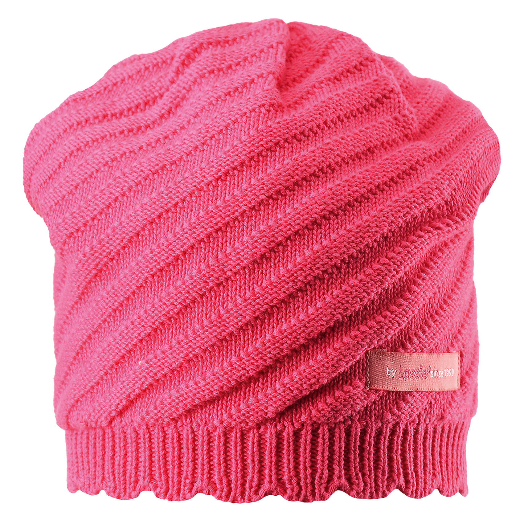 Шапка для девочки LASSIEШапки и шарфы<br>Характеристики товара:<br><br>• цвет: розовый<br>• температурный режим: от +15°до +5°С<br>• состав: 100% хлопок<br>• эластичный материал<br>• мягкая сплошная подкладка: смесь хлопка jersey<br>• ветронепроницаемые вставки в области ушей<br>• декоративная эмблема<br>• комфортная посадка<br>• страна производства: Китай<br>• страна бренда: Финляндия<br>• коллекция: весна-лето 2017<br><br>Детский головной убор может быть модным и удобным одновременно! Стильная шапка поможет обеспечить ребенку комфорт и дополнить наряд. Она отлично смотрится с различной одеждой. Шапка удобно сидит и аккуратно выглядит. Проста в уходе, долго служит. Продуманный крой разрабатывался специально для детей.<br><br>Обувь и одежда от финского бренда LASSIE пользуются популярностью во многих странах. Они стильные, качественные и удобные. Для производства продукции используются только безопасные, проверенные материалы и фурнитура. Порадуйте ребенка модными и красивыми вещами от Lassie®! <br><br>Шапку для девочки от финского бренда LASSIE можно купить в нашем интернет-магазине.<br><br>Ширина мм: 89<br>Глубина мм: 117<br>Высота мм: 44<br>Вес г: 155<br>Цвет: розовый<br>Возраст от месяцев: 72<br>Возраст до месяцев: 120<br>Пол: Женский<br>Возраст: Детский<br>Размер: 54-56,46-48,50-52<br>SKU: 5264203