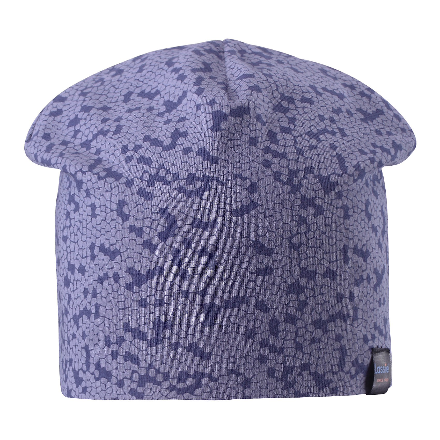 Шапка LASSIEШапки и шарфы<br>Характеристики товара:<br><br>• цвет: синий<br>• температурный режим: от +15°до +5°С<br>• состав: 97% хлопок, 3% эластан<br>• эластичный материал<br>• мягкая сплошная подкладка: смесь хлопка jersey<br>• ветронепроницаемые вставки в области ушей<br>• принт<br>• комфортная посадка<br>• страна производства: Китай<br>• страна бренда: Финляндия<br>• коллекция: весна-лето 2017<br><br>Детский головной убор может быть модным и удобным одновременно! Стильная шапка поможет обеспечить ребенку комфорт и дополнить наряд. Она отлично смотрится с различной одеждой. Шапка удобно сидит и аккуратно выглядит. Проста в уходе, долго служит. Продуманный крой разрабатывался специально для детей.<br><br>Обувь и одежда от финского бренда LASSIE пользуются популярностью во многих странах. Они стильные, качественные и удобные. Для производства продукции используются только безопасные, проверенные материалы и фурнитура. Порадуйте ребенка модными и красивыми вещами от Lassie®! <br><br>Шапку от финского бренда LASSIE можно купить в нашем интернет-магазине.<br><br>Ширина мм: 89<br>Глубина мм: 117<br>Высота мм: 44<br>Вес г: 155<br>Цвет: синий<br>Возраст от месяцев: 72<br>Возраст до месяцев: 120<br>Пол: Унисекс<br>Возраст: Детский<br>Размер: 54-56,46-48,50-52<br>SKU: 5264211