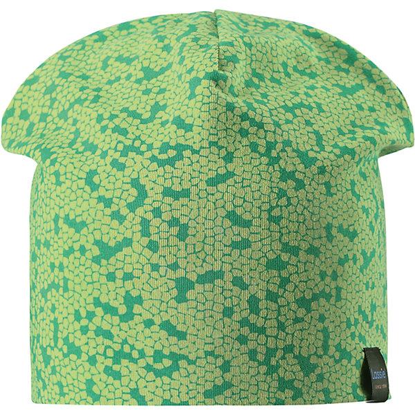 Шапка LASSIEШапки и шарфы<br>Характеристики товара:<br><br>• цвет: зеленый<br>• температурный режим: от +15°до +5°С<br>• состав: 97% хлопок, 3% эластан<br>• эластичный материал<br>• мягкая сплошная подкладка: смесь хлопка jersey<br>• ветронепроницаемые вставки в области ушей<br>• принт<br>• комфортная посадка<br>• страна производства: Китай<br>• страна бренда: Финляндия<br>• коллекция: весна-лето 2017<br><br>Детский головной убор может быть модным и удобным одновременно! Стильная шапка поможет обеспечить ребенку комфорт и дополнить наряд. Она отлично смотрится с различной одеждой. Шапка удобно сидит и аккуратно выглядит. Проста в уходе, долго служит. Продуманный крой разрабатывался специально для детей.<br><br>Обувь и одежда от финского бренда LASSIE пользуются популярностью во многих странах. Они стильные, качественные и удобные. Для производства продукции используются только безопасные, проверенные материалы и фурнитура. Порадуйте ребенка модными и красивыми вещами от Lassie®! <br><br>Шапку от финского бренда LASSIE можно купить в нашем интернет-магазине.<br><br>Ширина мм: 89<br>Глубина мм: 117<br>Высота мм: 44<br>Вес г: 155<br>Цвет: зеленый<br>Возраст от месяцев: 12<br>Возраст до месяцев: 18<br>Пол: Унисекс<br>Возраст: Детский<br>Размер: 46-48,50-52,54-56<br>SKU: 5264215