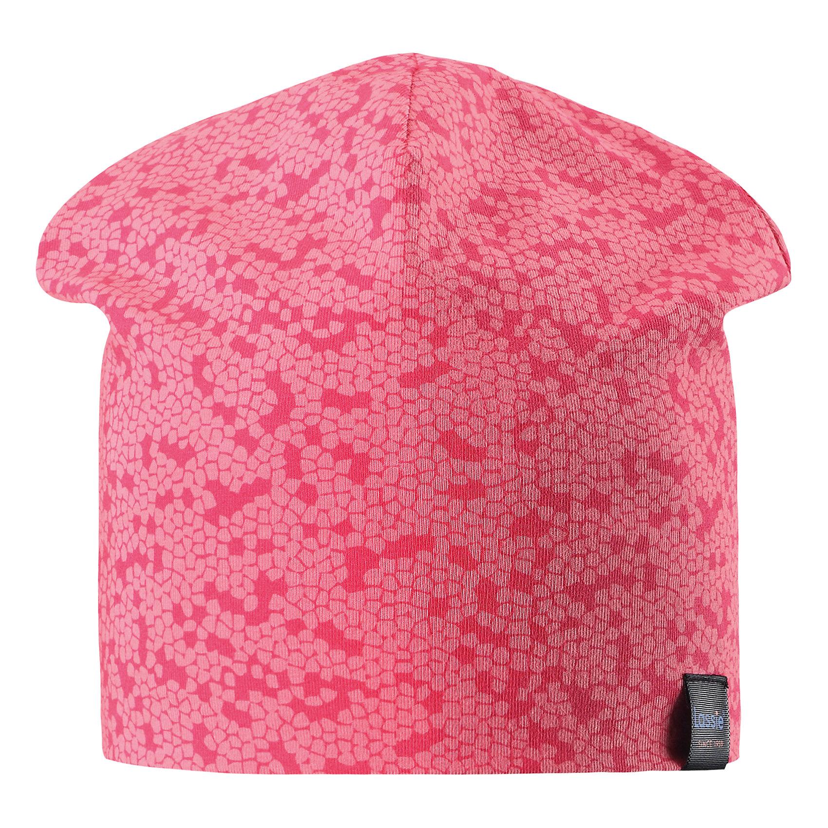 Шапка LASSIEШапки и шарфы<br>Характеристики товара:<br><br>• цвет: розовый<br>• температурный режим: от +15°до +5°С<br>• состав: 97% хлопок, 3% эластан<br>• эластичный материал<br>• мягкая сплошная подкладка: смесь хлопка jersey<br>• ветронепроницаемые вставки в области ушей<br>• принт<br>• комфортная посадка<br>• страна производства: Китай<br>• страна бренда: Финляндия<br>• коллекция: весна-лето 2017<br><br>Детский головной убор может быть модным и удобным одновременно! Стильная шапка поможет обеспечить ребенку комфорт и дополнить наряд. Она отлично смотрится с различной одеждой. Шапка удобно сидит и аккуратно выглядит. Проста в уходе, долго служит. Продуманный крой разрабатывался специально для детей.<br><br>Обувь и одежда от финского бренда LASSIE пользуются популярностью во многих странах. Они стильные, качественные и удобные. Для производства продукции используются только безопасные, проверенные материалы и фурнитура. Порадуйте ребенка модными и красивыми вещами от Lassie®! <br><br>Шапку от финского бренда LASSIE можно купить в нашем интернет-магазине.<br><br>Ширина мм: 89<br>Глубина мм: 117<br>Высота мм: 44<br>Вес г: 155<br>Цвет: красный<br>Возраст от месяцев: 72<br>Возраст до месяцев: 120<br>Пол: Унисекс<br>Возраст: Детский<br>Размер: 54-56,46-48,50-52<br>SKU: 5264231