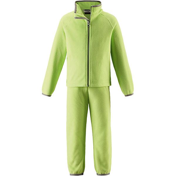 Комплект LASSIEОдежда<br>Характеристики товара:<br><br>• цвет: зеленый<br>• состав: 100% полиэстер<br>• комплектация: кофта, штаны<br>• мягкий флис<br>• «дышащий» теплый и быстросохнущий материал<br>• эластичный воротник<br>• манжеты на рукавах и брючинах<br>• молния по всей длине с защитой подбородка<br>• эластичная талия<br>• комфортная посадка<br>• страна производства: Китай<br>• страна бренда: Финляндия<br>• коллекция: весна-лето 2017<br><br>Флисовый комплект из кофты и штанов поможет обеспечить ребенку комфорт и тепло. Предметы отлично смотрятся с различной одеждой. Комплект удобно сидит и модно выглядит. Материал - теплый и мягкий. Продуманный крой разрабатывался специально для детей.<br><br>Обувь и одежда от финского бренда LASSIE пользуются популярностью во многих странах. Они стильные, качественные и удобные. Для производства продукции используются только безопасные, проверенные материалы и фурнитура. Порадуйте ребенка модными и красивыми вещами от Lassie®! <br><br>Комплект от финского бренда LASSIE можно купить в нашем интернет-магазине.<br><br>Ширина мм: 190<br>Глубина мм: 74<br>Высота мм: 229<br>Вес г: 236<br>Цвет: желтый<br>Возраст от месяцев: 108<br>Возраст до месяцев: 120<br>Пол: Унисекс<br>Возраст: Детский<br>Размер: 128,92,98,104,110,116,122,134,140<br>SKU: 5264285