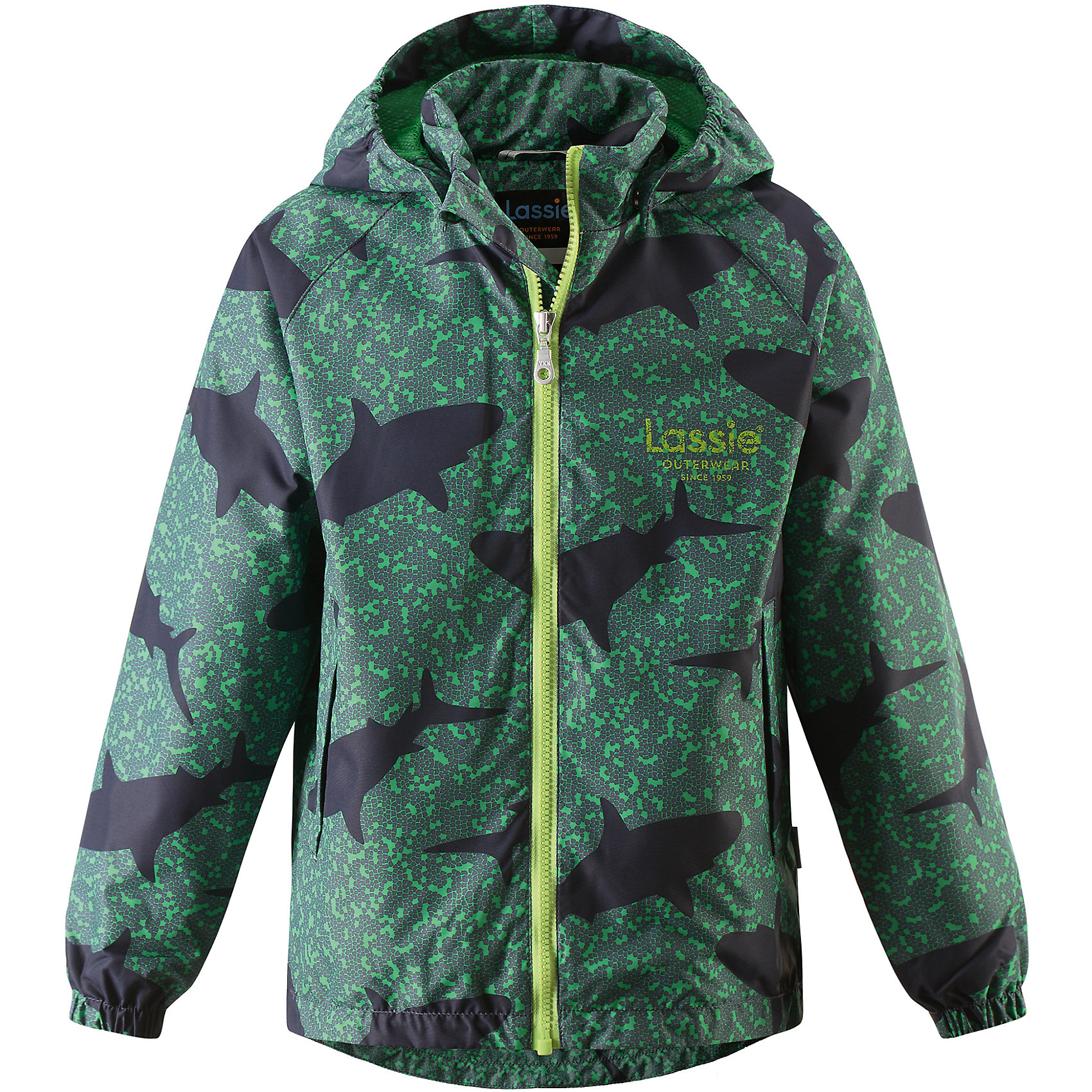 Куртка для мальчика LASSIEОдежда<br>Курткадля мальчика LASSIE<br>Состав:<br>100% Полиэстер, полиуретановое покрытие<br> Куртка для детей<br> Водоотталкивающий, ветронепроницаемый и «дышащий» материал<br> Подкладка из mesh-сетки<br> Безопасный, съемный капюшон<br> Эластичные манжеты<br> Регулируемый подол<br> Два прорезных кармана<br><br>Ширина мм: 356<br>Глубина мм: 10<br>Высота мм: 245<br>Вес г: 519<br>Цвет: зеленый<br>Возраст от месяцев: 3<br>Возраст до месяцев: 48<br>Пол: Мужской<br>Возраст: Детский<br>Размер: 104,110,116,122,128,134,92,98,140<br>SKU: 5264505