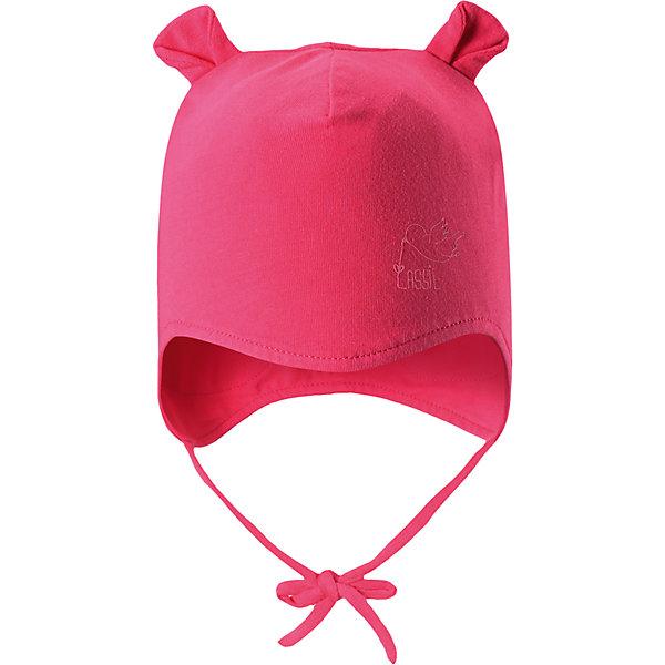 Шапка LASSIEШапки и шарфы<br>Характеристики товара:<br><br>• цвет: розовый<br>• температурный режим: от +10°до 0°С<br>• состав: 95% хлопок, 5% эластан<br>• трикотажный материал гладкого плетения<br>• ветронепроницаемые вставки в области ушей<br>• подкладка: смесь хлопка jersey<br>• небольшой принт<br>• завязки<br>• ушки<br>• комфортная посадка<br>• страна производства: Китай<br>• страна бренда: Финляндия<br>• коллекция: весна-лето 2017<br><br>Детский головной убор может быть модным и удобным одновременно! Стильная шапка поможет обеспечить ребенку комфорт и дополнить наряд. Она отлично смотрится с различной одеждой. Шапка удобно сидит и очень симпатично выглядит. Продуманный крой разрабатывался специально для детей.<br><br>Обувь и одежда от финского бренда LASSIE пользуются популярностью во многих странах. Они стильные, качественные и удобные. Для производства продукции используются только безопасные, проверенные материалы и фурнитура. Порадуйте ребенка модными и красивыми вещами от Lassie®! <br><br>Шапку от финского бренда LASSIE можно купить в нашем интернет-магазине.<br><br>Ширина мм: 89<br>Глубина мм: 117<br>Высота мм: 44<br>Вес г: 155<br>Цвет: красный<br>Возраст от месяцев: 12<br>Возраст до месяцев: 18<br>Пол: Женский<br>Возраст: Детский<br>Размер: 46-48,44-46,50-52<br>SKU: 5264633