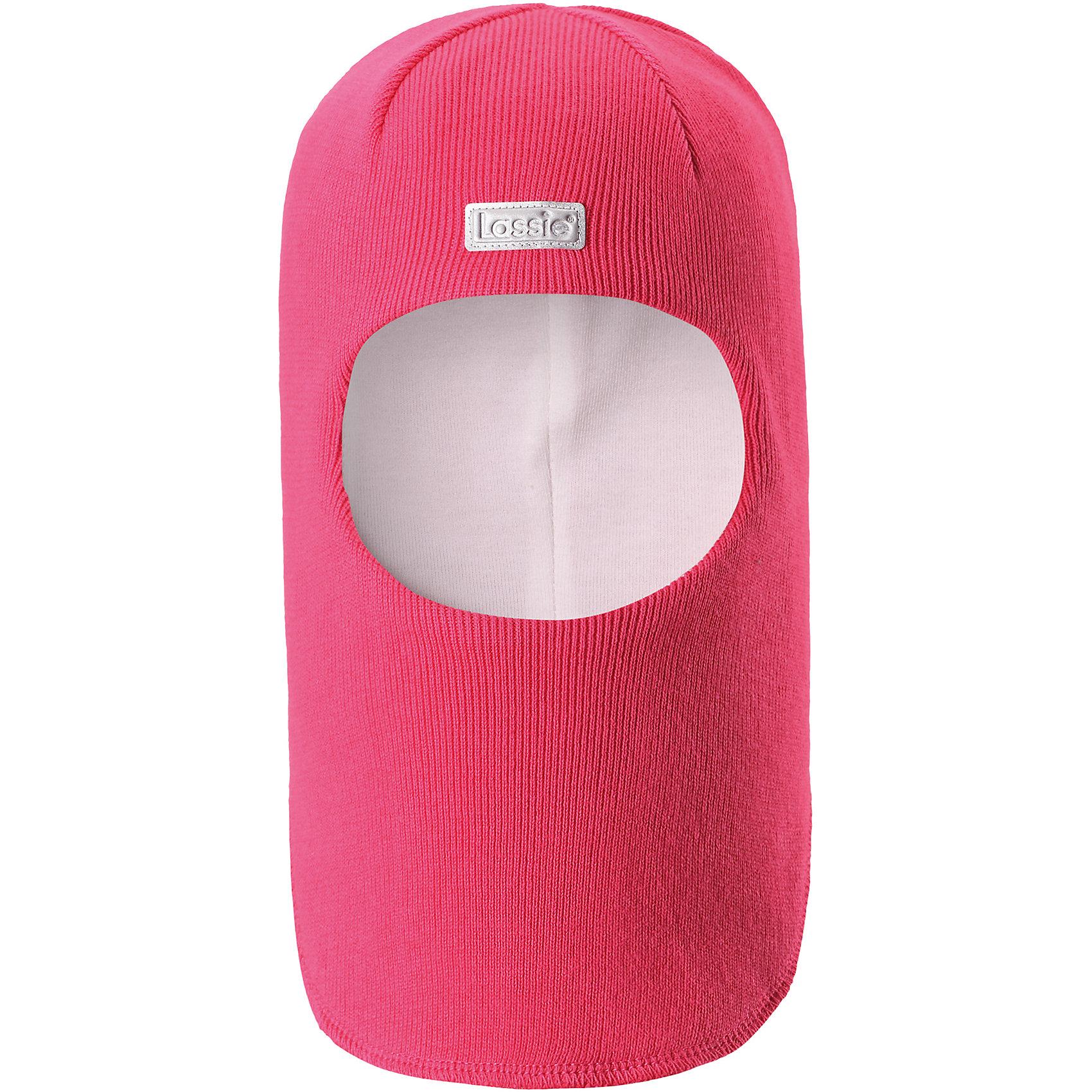 Шапка-шлем LASSIEШапки и шарфы<br>Характеристики товара:<br><br>• цвет: розовый<br>• температурный режим: от +10°до 0°С<br>• состав: 100% хлопок<br>• эластичный материал<br>• эмблема<br>• подкладка: смесь хлопка jersey<br>• ветронепроницаемые вставки в области ушей<br>• комфортная посадка<br>• страна производства: Китай<br>• страна бренда: Финляндия<br>• коллекция: весна-лето 2017<br><br>Детский головной убор может быть модным и удобным одновременно! Стильная шапка поможет обеспечить ребенку комфорт и дополнить наряд. Она отлично смотрится с различной одеждой. Шапка удобно сидит и очень модно выглядит. Продуманный крой разрабатывался специально для детей.<br><br>Обувь и одежда от финского бренда LASSIE пользуются популярностью во многих странах. Они стильные, качественные и удобные. Для производства продукции используются только безопасные, проверенные материалы и фурнитура. Порадуйте ребенка модными и красивыми вещами от Lassie®! <br><br>Шапку-шлем от финского бренда LASSIE можно купить в нашем интернет-магазине.<br><br>Ширина мм: 89<br>Глубина мм: 117<br>Высота мм: 44<br>Вес г: 155<br>Цвет: розовый<br>Возраст от месяцев: 6<br>Возраст до месяцев: 9<br>Пол: Женский<br>Возраст: Детский<br>Размер: 54-56,44-46,50-52,46-48<br>SKU: 5264754