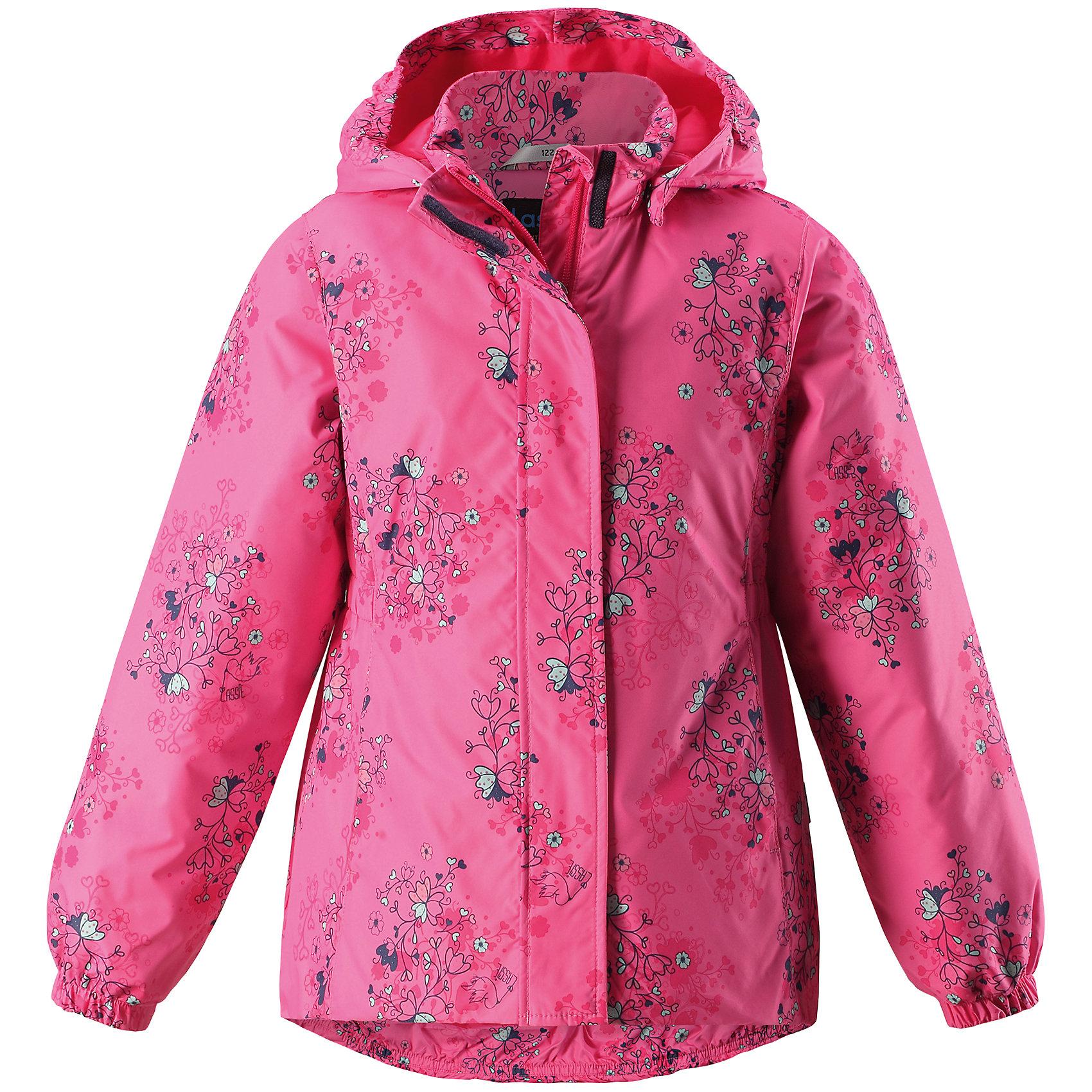 Куртка  для девочки LASSIEОдежда<br>Куртка  для девочки LASSIE<br>Состав:<br>100% Полиэстер, полиуретановое покрытие<br> Куртка для детей.<br> Водоотталкивающий, ветронепроницаемый и «дышащий» материал.<br> Крой для девочек.<br> Гладкая подкладка из полиэстра.<br> Легкая степень утепления.<br> Безопасный, съемный капюшон.<br> Эластичные манжеты.<br> Эластичная талия.<br> Эластичная кромка подола.<br> Карманы в боковых швах.<br><br>Ширина мм: 356<br>Глубина мм: 10<br>Высота мм: 245<br>Вес г: 519<br>Цвет: розовый<br>Возраст от месяцев: 120<br>Возраст до месяцев: 132<br>Пол: Женский<br>Возраст: Детский<br>Размер: 134,98,104,140,128,122,116,110,92<br>SKU: 5264970