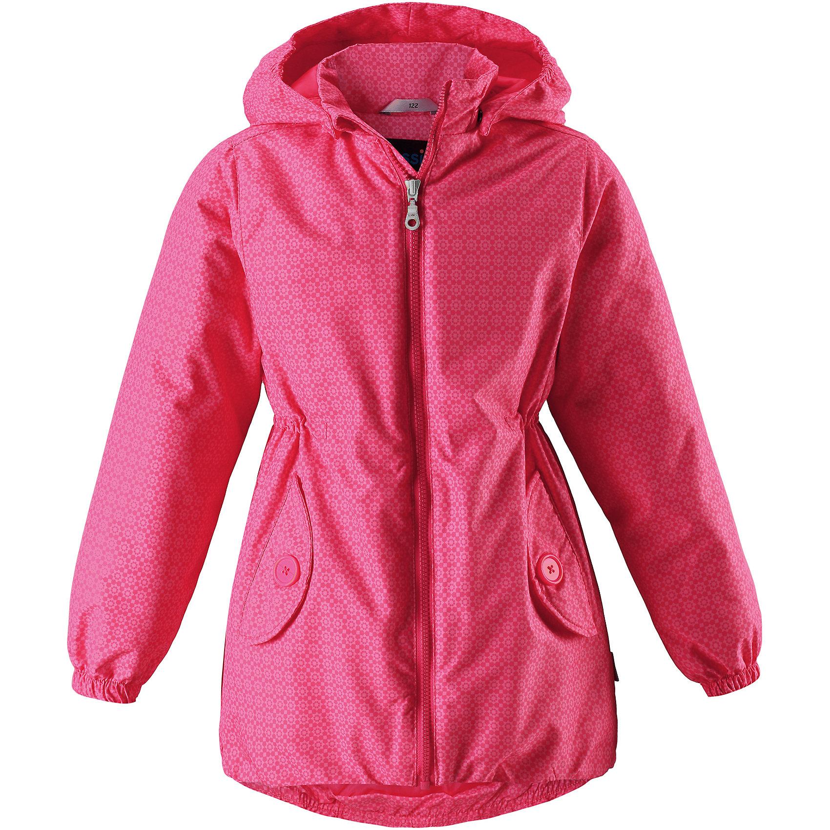 Куртка для девочки LASSIEОдежда<br>Характеристики товара:<br><br>• цвет: розовый<br>• температурный режим: от +10°до 0°С<br>• состав: 100% полиэстер, мембрана 100% полиуретан.<br>• водонепроницаемость: 1000 мм<br>• сопротивление трению: 20000 циклов (тест Мартиндейла).<br>• легкий утеплитель: 80 гр/м2<br>• водоотталкивающий, ветронепроницаемый и «дышащий» материал<br>• подкладка: гладкий полиэстер<br>• обхват талии регулируется<br>• карманы <br>• отстегивающийся капюшон<br>• молния<br>• эластичная кромка подола<br>• эластичные манжеты<br>• комфортная посадка<br>• страна производства: Китай<br>• страна бренда: Финляндия<br>• коллекция: весна-лето 2017<br><br>Демисезонная куртка поможет обеспечить ребенку комфорт и тепло. Она отлично смотрится с различной одеждой и обувью. Изделие удобно сидит и модно выглядит. Материал - водоотталкивающий, ветронепроницаемый и «дышащий». Продуманный крой разрабатывался специально для детей.<br><br>Обувь и одежда от финского бренда LASSIE пользуются популярностью во многих странах. Они стильные, качественные и удобные. Для производства продукции используются только безопасные, проверенные материалы и фурнитура. Порадуйте ребенка модными и красивыми вещами от Lassie®! <br><br>Куртку для девочки от финского бренда LASSIE можно купить в нашем интернет-магазине.<br><br>Ширина мм: 356<br>Глубина мм: 10<br>Высота мм: 245<br>Вес г: 519<br>Цвет: розовый<br>Возраст от месяцев: 18<br>Возраст до месяцев: 24<br>Пол: Женский<br>Возраст: Детский<br>Размер: 92,140,134,128,122,116,110,104,98<br>SKU: 5265040