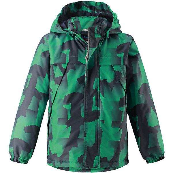 Куртка  для мальчика LASSIEОдежда<br>Куртка  для мальчика LASSIE<br>Состав:<br>100% Полиэстер, полиуретановое покрытие<br> Куртка демисезонная для детей<br> Водоотталкивающий, ветронепроницаемый и «дышащий» материал<br> Гладкая подкладка из полиэстра<br> Легкая степень утепления<br> Безопасный, съемный капюшон<br> Эластичные манжеты<br> Регулируемый подол<br> Передние карманы<br>Ширина мм: 356; Глубина мм: 10; Высота мм: 245; Вес г: 519; Цвет: зеленый; Возраст от месяцев: 18; Возраст до месяцев: 24; Пол: Мужской; Возраст: Детский; Размер: 92,140,98,104,110,116,122,128,134; SKU: 5265090;