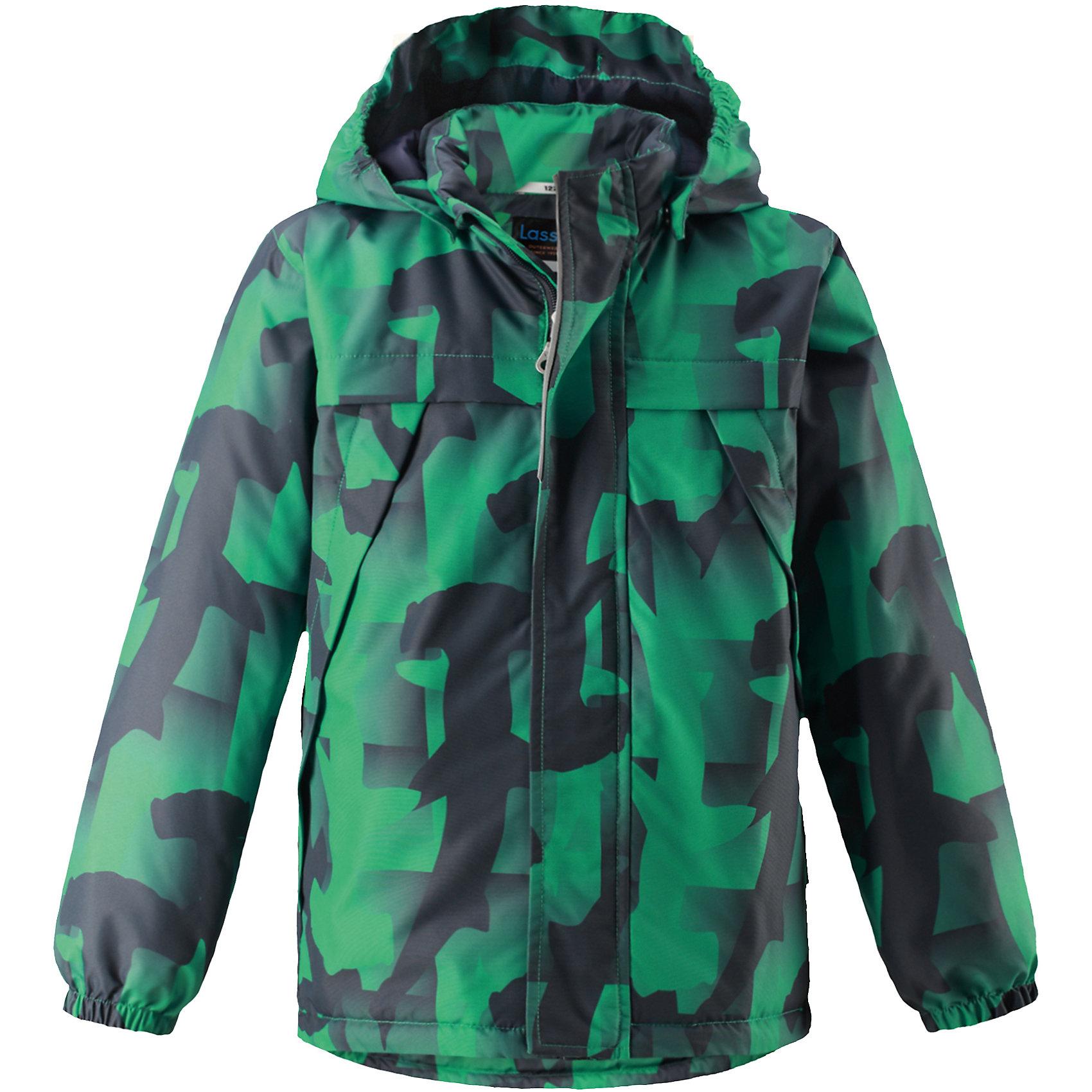 Куртка  для мальчика LASSIEОдежда<br>Куртка  для мальчика LASSIE<br>Состав:<br>100% Полиэстер, полиуретановое покрытие<br> Куртка демисезонная для детей<br> Водоотталкивающий, ветронепроницаемый и «дышащий» материал<br> Гладкая подкладка из полиэстра<br> Легкая степень утепления<br> Безопасный, съемный капюшон<br> Эластичные манжеты<br> Регулируемый подол<br> Передние карманы<br><br>Ширина мм: 356<br>Глубина мм: 10<br>Высота мм: 245<br>Вес г: 519<br>Цвет: зеленый<br>Возраст от месяцев: 18<br>Возраст до месяцев: 24<br>Пол: Мужской<br>Возраст: Детский<br>Размер: 92,140,98,104,110,116,122,128,134<br>SKU: 5265090