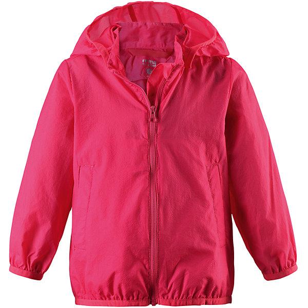 Ветровка Sorriso для девочки ReimaОдежда<br>Характеристики товара:<br><br>• цвет: красный<br>• состав: 100% полиамид<br>• температурный режим: от +10°до +20°С<br>• легкий, водоотталкивающий и «дышащий» материал<br>• без подкладки<br>• безопасный съёмный капюшон<br>• эластичная сборка по краю капюшона, на манжетах и на подоле<br>• куртку можно свернуть в собственный карман<br>• молния<br>• комфортная посадка<br>• страна производства: Китай<br>• страна бренда: Финляндия<br>• коллекция: весна-лето 2017<br><br>Верхняя одежда для детей может быть модной и комфортной одновременно! Легкая куртка поможет обеспечить ребенку комфорт и тепло. Она отлично смотрится с различной одеждой и обувью. Изделие удобно сидит и модно выглядит. Материал - прочный, хорошо подходящий для межсезонья. Стильный дизайн разрабатывался специально для детей.<br><br>Одежда и обувь от финского бренда Reima пользуется популярностью во многих странах. Эти изделия стильные, качественные и удобные. Для производства продукции используются только безопасные, проверенные материалы и фурнитура. Порадуйте ребенка модными и красивыми вещами от Reima! <br><br>Куртку для девочки от финского бренда Reima (Рейма) можно купить в нашем интернет-магазине.<br>Ширина мм: 356; Глубина мм: 10; Высота мм: 245; Вес г: 519; Цвет: красный; Возраст от месяцев: 12; Возраст до месяцев: 15; Пол: Женский; Возраст: Детский; Размер: 80,92,86,74,98; SKU: 5265526;