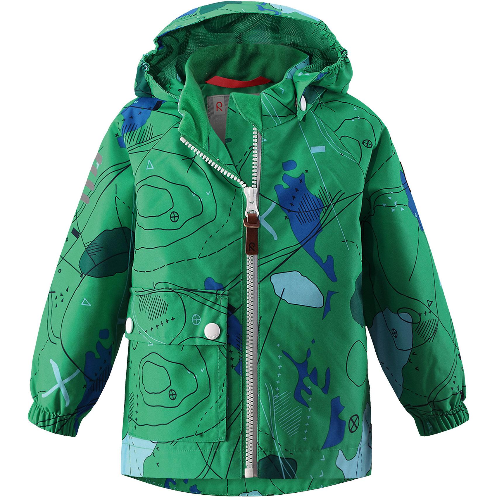 Куртка Leikki для мальчика Reimatec® ReimaХарактеристики товара:<br><br>• цвет: зеленый<br>• состав: 100% полиэстер, полиуретановое покрытие<br>• температурный режим: от +5°до +15°С<br>• водонепроницаемость: 8000 мм<br>• воздухопроницаемость: 5000 мм<br>• износостойкость: 30000 циклов (тест Мартиндейла)<br>• без утеплителя<br>• швы проклеены, водонепроницаемы<br>• водо- и ветронепроницаемый, дышащий, грязеотталкивающий материал<br>• гладкая подкладка из полиэстера<br>• эластичные манжеты<br>• карман с клапаном<br>• светоотражающие детали<br>• комфортная посадка<br>• страна производства: Китай<br>• страна бренда: Финляндия<br>• коллекция: весна-лето 2017<br><br>Верхняя одежда для детей может быть модной и комфортной одновременно! Демисезонная куртка поможет обеспечить ребенку комфорт и тепло. Она отлично смотрится с различной одеждой и обувью. Изделие удобно сидит и модно выглядит. Материал - прочный, хорошо подходящий для межсезонья, водо- и ветронепроницаемый, «дышащий». Стильный дизайн разрабатывался специально для детей.<br><br>Одежда и обувь от финского бренда Reima пользуется популярностью во многих странах. Эти изделия стильные, качественные и удобные. Для производства продукции используются только безопасные, проверенные материалы и фурнитура. Порадуйте ребенка модными и красивыми вещами от Reima! <br><br>Куртку для мальчика Reimatec® от финского бренда Reima (Рейма) можно купить в нашем интернет-магазине.<br><br>Ширина мм: 356<br>Глубина мм: 10<br>Высота мм: 245<br>Вес г: 519<br>Цвет: зеленый<br>Возраст от месяцев: 24<br>Возраст до месяцев: 36<br>Пол: Мужской<br>Возраст: Детский<br>Размер: 80,92,74,86,98<br>SKU: 5265544