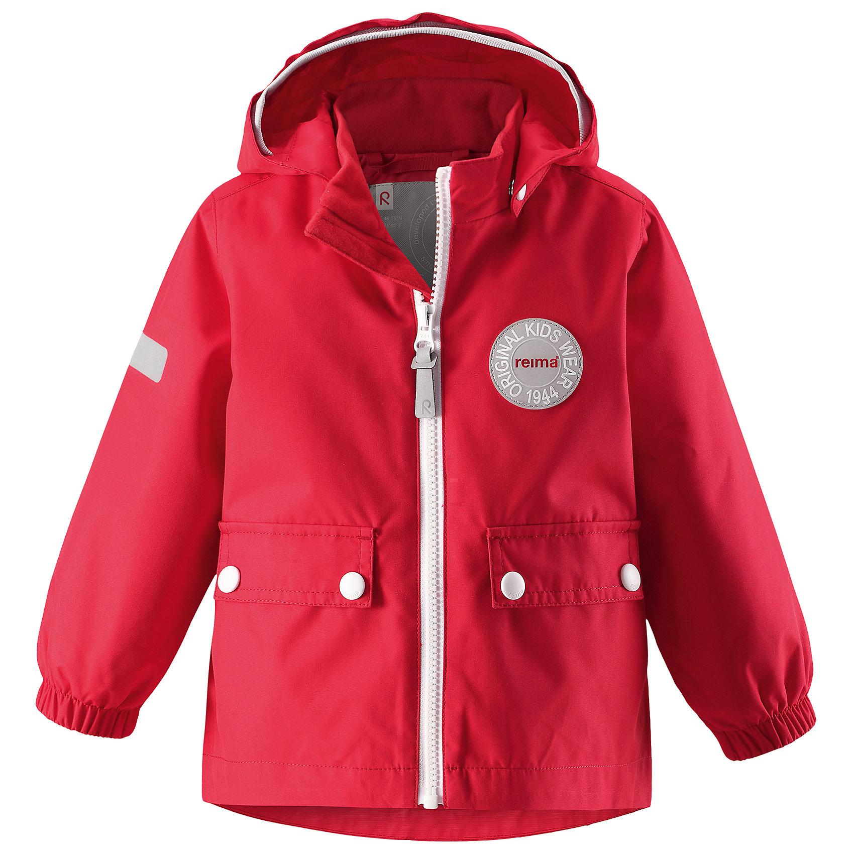 Куртка Quilt для девочки Reimatec® ReimaХарактеристики товара:<br><br>• цвет: красный<br>• состав: 100% полиэстер, полиуретановое покрытие<br>• температурный режим: от +5°до +15°С<br>• водонепроницаемость: 8000 мм<br>• воздухопроницаемость: 5000 мм<br>• износостойкость: 30000 циклов (тест Мартиндейла)<br>• без утеплителя<br>• швы проклеены, водонепроницаемы<br>• водо- и ветронепроницаемый, дышащий, грязеотталкивающий материал<br>• безопасный съёмный капюшон<br>• эластичные манжеты<br>• грязеотталкивающий материал<br>• два кармана с клапанами<br>• светоотражающие детали<br>• мягкая резинка на кромке капюшона<br>• комфортная посадка<br>• страна производства: Китай<br>• страна бренда: Финляндия<br>• коллекция: весна-лето 2017<br><br>Верхняя одежда для детей может быть модной и комфортной одновременно! Демисезонная куртка поможет обеспечить ребенку комфорт и тепло. Она отлично смотрится с различной одеждой и обувью. Изделие удобно сидит и модно выглядит. Материал - прочный, хорошо подходящий для межсезонья, водо- и ветронепроницаемый, «дышащий». Стильный дизайн разрабатывался специально для детей.<br><br>Одежда и обувь от финского бренда Reima пользуется популярностью во многих странах. Эти изделия стильные, качественные и удобные. Для производства продукции используются только безопасные, проверенные материалы и фурнитура. Порадуйте ребенка модными и красивыми вещами от Reima! <br><br>Куртку для мальчика Reimatec® от финского бренда Reima (Рейма) можно купить в нашем интернет-магазине.<br><br>Ширина мм: 356<br>Глубина мм: 10<br>Высота мм: 245<br>Вес г: 519<br>Цвет: красный<br>Возраст от месяцев: 6<br>Возраст до месяцев: 9<br>Пол: Женский<br>Возраст: Детский<br>Размер: 74,92,98,86,80<br>SKU: 5265580