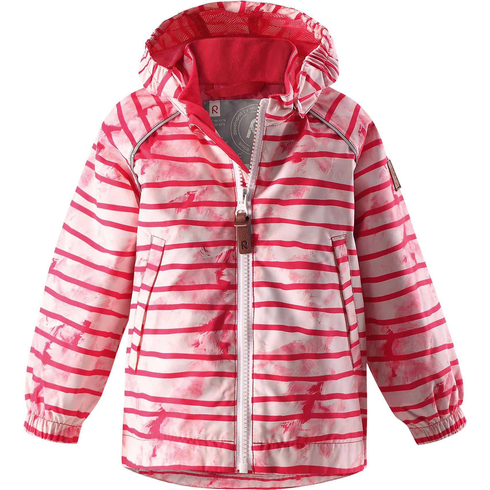 Куртка Hihitys для девочки Reimatec® ReimaОдежда<br>Характеристики товара:<br><br>• цвет: розовый<br>• состав: 100% полиэстер, полиуретановое покрытие<br>• температурный режим: от +5°до +15°С<br>• водонепроницаемость: 5000 мм<br>• воздухопроницаемость: 3000 мм<br>• износостойкость: 15000 циклов (тест Мартиндейла)<br>• без утеплителя<br>• швы проклеены, водонепроницаемы<br>• водо- и ветронепроницаемый, дышащий, грязеотталкивающий материал<br>• гладкая подкладка из полиэстера по всему изделию, mesh-сетка на капюшоне<br>• безопасный съёмный капюшон<br>• эластичные манжеты<br>• карман на молнии<br>• два боковых кармана<br>• светоотражающие детали<br>• комфортная посадка<br>• страна производства: Китай<br>• страна бренда: Финляндия<br>• коллекция: весна-лето 2017<br><br>Верхняя одежда для детей может быть модной и комфортной одновременно! Демисезонная куртка поможет обеспечить ребенку комфорт и тепло. Она отлично смотрится с различной одеждой и обувью. Изделие удобно сидит и модно выглядит. Материал - прочный, хорошо подходящий для межсезонья, водо- и ветронепроницаемый, «дышащий». Стильный дизайн разрабатывался специально для детей.<br><br>Одежда и обувь от финского бренда Reima пользуется популярностью во многих странах. Эти изделия стильные, качественные и удобные. Для производства продукции используются только безопасные, проверенные материалы и фурнитура. Порадуйте ребенка модными и красивыми вещами от Reima! <br><br>Куртку для мальчика Reimatec® от финского бренда Reima (Рейма) можно купить в нашем интернет-магазине.<br><br>Ширина мм: 356<br>Глубина мм: 10<br>Высота мм: 245<br>Вес г: 519<br>Цвет: розовый<br>Возраст от месяцев: 24<br>Возраст до месяцев: 36<br>Пол: Женский<br>Возраст: Детский<br>Размер: 98,74,80,86,92<br>SKU: 5265592