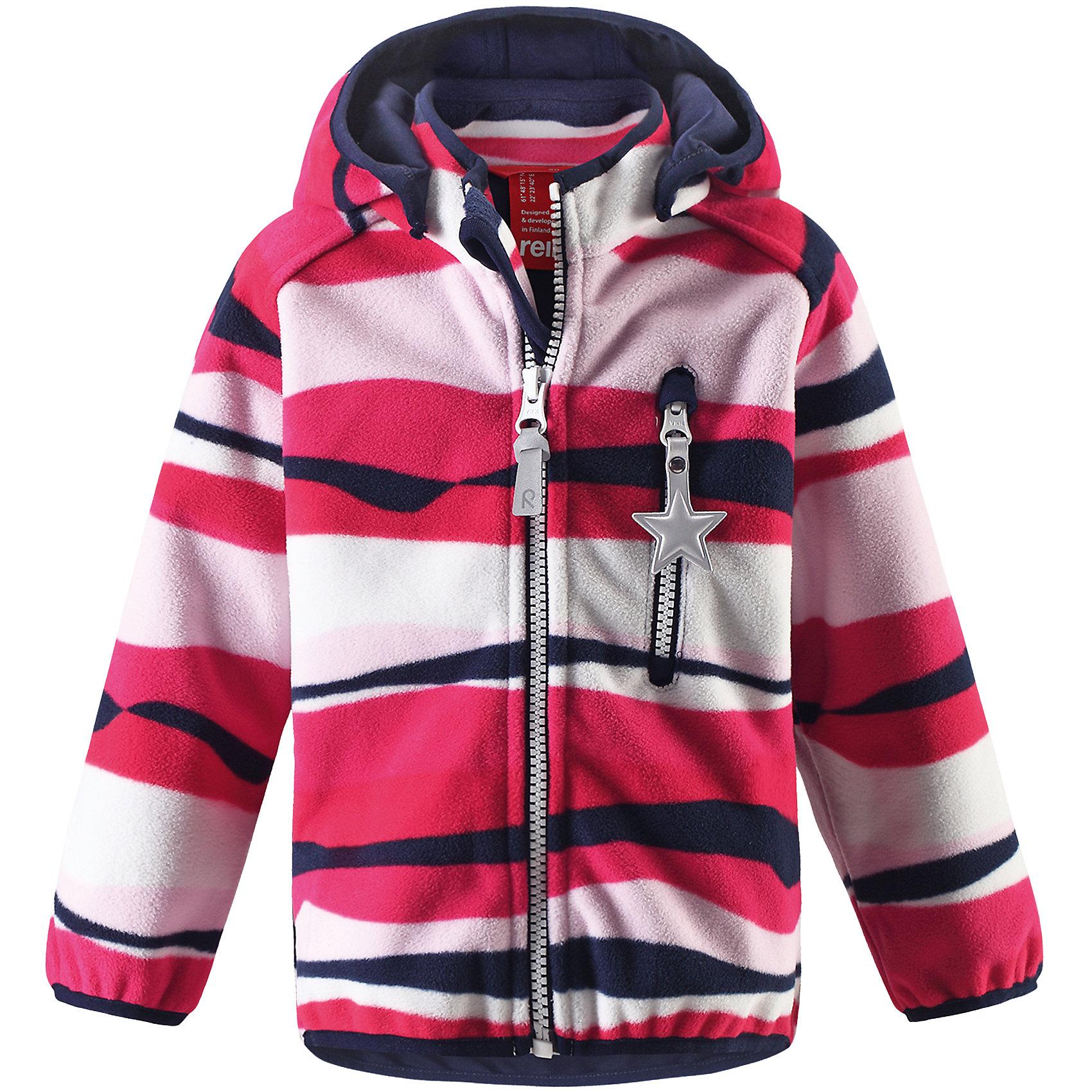 Куртка Viklo для девочки ReimaВерхняя одежда<br>Характеристики товара:<br><br>• цвет: розовый<br>• состав: 100% полиэстер, полиуретановое покрытие<br>• температурный режим: от +5° до +15°С<br>• водонепроницаемость: 10000 мм<br>• воздухопроницаемость: 5000 мм<br>• без утеплителя<br>• материал windfleece<br>• не пропускает ветер<br>• водоотталкивающий, ветронепроницаемый и дышащий материал<br>• многослойный материал, с изнаночной стороны - джерси<br>• гладкая трикотажная подкладка из полиэстера<br>• безопасный съёмный капюшон<br>• эластичная сборка по карю капюшона, на манжетах и на подоле<br>• эластичные манжеты<br>• карман на молнии<br>• светоотражающие детали<br>• комфортная посадка<br>• страна производства: Китай<br>• страна бренда: Финляндия<br>• коллекция: весна-лето 2017<br><br>Верхняя одежда для детей может быть модной и комфортной одновременно! Демисезонная куртка поможет обеспечить ребенку комфорт и тепло. Она отлично смотрится с различной одеждой и обувью. Изделие удобно сидит и модно выглядит. Материал - прочный, хорошо подходящий для межсезонья, водо- и ветронепроницаемый, «дышащий». Стильный дизайн разрабатывался специально для детей.<br><br>Одежда и обувь от финского бренда Reima пользуется популярностью во многих странах. Эти изделия стильные, качественные и удобные. Для производства продукции используются только безопасные, проверенные материалы и фурнитура. Порадуйте ребенка модными и красивыми вещами от Reima! <br><br>Куртку для мальчика Reimatec® от финского бренда Reima (Рейма) можно купить в нашем интернет-магазине.<br><br>Ширина мм: 356<br>Глубина мм: 10<br>Высота мм: 245<br>Вес г: 519<br>Цвет: красный<br>Возраст от месяцев: 12<br>Возраст до месяцев: 18<br>Пол: Женский<br>Возраст: Детский<br>Размер: 86,74,80,92,98<br>SKU: 5265604