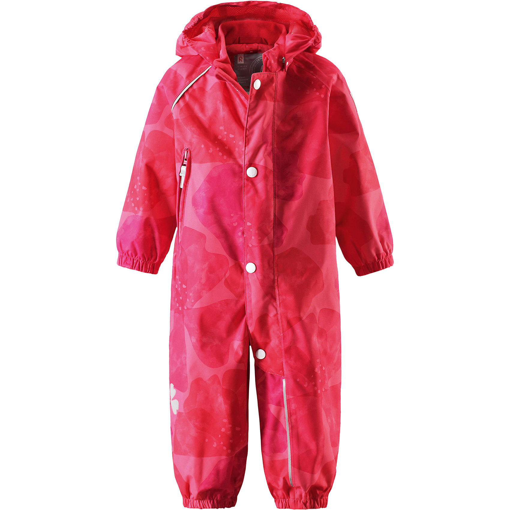 Комбинезон Nave для девочки Reimatec® ReimaОдежда<br>Характеристики товара:<br><br>• цвет: розовый/красный<br>• состав: 100% полиэстер, полиуретановое покрытие<br>• температурный режим: от +5°до +15°С<br>• водонепроницаемость: 15000 мм<br>• воздухопроницаемость: 5000 мм<br>• износостойкость: 35000 циклов (тест Мартиндейла)<br>• без утеплителя<br>• швы проклеены, водонепроницаемы<br>• водо- и ветронепроницаемый, дышащий, грязеотталкивающий материал<br>• гладкая подкладка из полиэстера по всему изделию, сетчатая подкладка на капюшоне<br>• безопасный съёмный каюшон<br>• прочные съёмные силиконовые штрипки<br>• длинная застёжка на молнии облегчает надевание<br>• эластичные манжеты<br>• карман на молнии<br>• комфортная посадка<br>• страна производства: Китай<br>• страна бренда: Финляндия<br>• коллекция: весна-лето 2017<br><br>Верхняя одежда для детей может быть модной и комфортной одновременно! Демисезонный комбинезон поможет обеспечить ребенку комфорт и тепло. Он отлично смотрится с различной обувью. Изделие удобно сидит и модно выглядит. Материал - прочный, хорошо подходящий для межсезонья, водо- и ветронепроницаемый, «дышащий». Стильный дизайн разрабатывался специально для детей.<br><br>Одежда и обувь от финского бренда Reima пользуется популярностью во многих странах. Эти изделия стильные, качественные и удобные. Для производства продукции используются только безопасные, проверенные материалы и фурнитура. Порадуйте ребенка модными и красивыми вещами от Reima! <br><br>Комбинезон для девочки Reimatec® от финского бренда Reima (Рейма) можно купить в нашем интернет-магазине.<br><br>Ширина мм: 356<br>Глубина мм: 10<br>Высота мм: 245<br>Вес г: 519<br>Цвет: розовый<br>Возраст от месяцев: 12<br>Возраст до месяцев: 15<br>Пол: Женский<br>Возраст: Детский<br>Размер: 80,86,92,74,98<br>SKU: 5265634