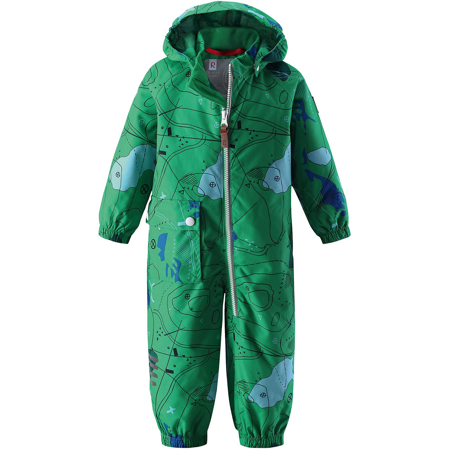 Комбинезон Leikki для мальчика Reimatec® ReimaВерхняя одежда<br>Характеристики товара:<br><br>• цвет: зеленый<br>• состав: 100% полиэстер, полиуретановое покрытие<br>• температурный режим от +5° до +15°С<br>• водонепроницаемость: 8000 мм<br>• воздухопроницаемость: 5000  мм<br>• износостойкость: 30000 циклов (тест Мартиндейла)<br>• без утеплителя<br>• швы проклеены, водонепроницаемы<br>• водо- и ветронепроницаемый, дышащий, грязеотталкивающий материал<br>• гладкая подкладка из полиэстера по всему изделию, mesh-сетка на капюшоне<br>• безопасный съёмный капюшон<br>• эластичные манжеты<br>• талия регулируется изнутри<br>• эластичные манжеты на брючинах<br>• эластичный съёмные штрипки<br>• накладной карман<br>• светоотражающие детали<br>• комфортная посадка<br>• страна производства: Китай<br>• страна бренда: Финляндия<br>• коллекция: весна-лето 2017<br><br>Верхняя одежда для детей может быть модной и комфортной одновременно! Демисезонный комбинезон поможет обеспечить ребенку комфорт и тепло. Он отлично смотрится с различной обувью. Изделие удобно сидит и модно выглядит. Материал - прочный, хорошо подходящий для межсезонья, водо- и ветронепроницаемый, «дышащий». Стильный дизайн разрабатывался специально для детей.<br><br>Одежда и обувь от финского бренда Reima пользуется популярностью во многих странах. Эти изделия стильные, качественные и удобные. Для производства продукции используются только безопасные, проверенные материалы и фурнитура. Порадуйте ребенка модными и красивыми вещами от Reima! <br><br>Комбинезон для мальчика Reimatec® от финского бренда Reima (Рейма) можно купить в нашем интернет-магазине.<br><br>Ширина мм: 356<br>Глубина мм: 10<br>Высота мм: 245<br>Вес г: 519<br>Цвет: зеленый<br>Возраст от месяцев: 24<br>Возраст до месяцев: 36<br>Пол: Мужской<br>Возраст: Детский<br>Размер: 98,74,80,92,86<br>SKU: 5265646