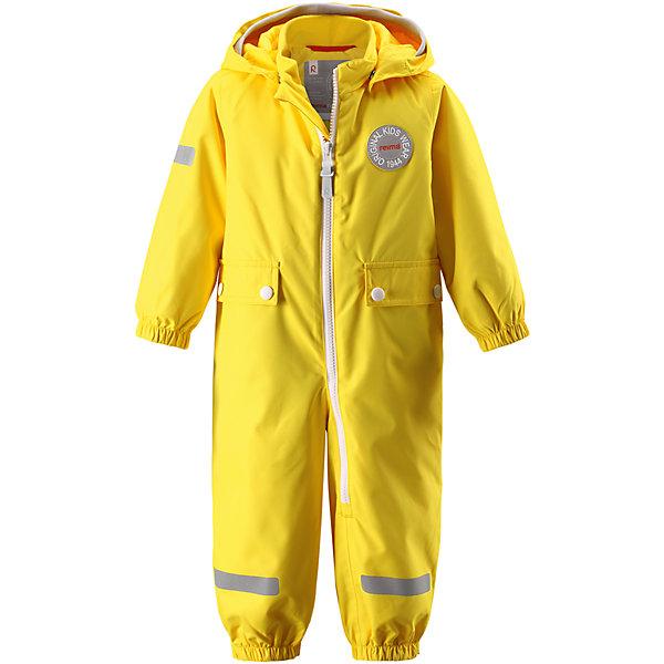 Комбинезон Fangan Reimatec® ReimaВерхняя одежда<br>Характеристики товара:<br><br>• цвет: желтый<br>• состав: 100% полиэстер, полиуретановое покрытие<br>• температурный режим: от +5° до +15°С<br>• водонепроницаемость: 8000 мм<br>• воздухопроницаемость: 5000 мм<br>• износостойкость: 30000 циклов (тест Мартиндейла)<br>• без утеплителя<br>• швы проклеены, водонепроницаемы<br>• водо- и ветронепроницаемый, дышащий, грязеотталкивающий материал<br>• гладкая подкладка из полиэстера<br>• безопасный съёмный капюшон<br>• мягка резинка по краю капюшона<br>• эластичные манжеты<br>• талия регулируется изнутри<br>• эластичные манжеты на брючинах<br>• съёмные эластичные штрипки<br>• длинная застёжка на молнии облегчает надевание<br>• два накладных кармана<br>• комфортная посадка<br>• страна производства: Китай<br>• страна бренда: Финляндия<br>• коллекция: весна-лето 2017<br><br>Верхняя одежда для детей может быть модной и комфортной одновременно! Демисезонный комбинезон поможет обеспечить ребенку комфорт и тепло. Он отлично смотрится с различной обувью. Изделие удобно сидит и модно выглядит. Материал - прочный, хорошо подходящий для межсезонья, водо- и ветронепроницаемый, «дышащий». Стильный дизайн разрабатывался специально для детей.<br><br>Одежда и обувь от финского бренда Reima пользуется популярностью во многих странах. Эти изделия стильные, качественные и удобные. Для производства продукции используются только безопасные, проверенные материалы и фурнитура. Порадуйте ребенка модными и красивыми вещами от Reima! <br><br>Комбинезон Reimatec® от финского бренда Reima (Рейма) можно купить в нашем интернет-магазине.<br><br>Ширина мм: 356<br>Глубина мм: 10<br>Высота мм: 245<br>Вес г: 519<br>Цвет: желтый<br>Возраст от месяцев: 24<br>Возраст до месяцев: 36<br>Пол: Унисекс<br>Возраст: Детский<br>Размер: 98,74,80,92,86<br>SKU: 5265682