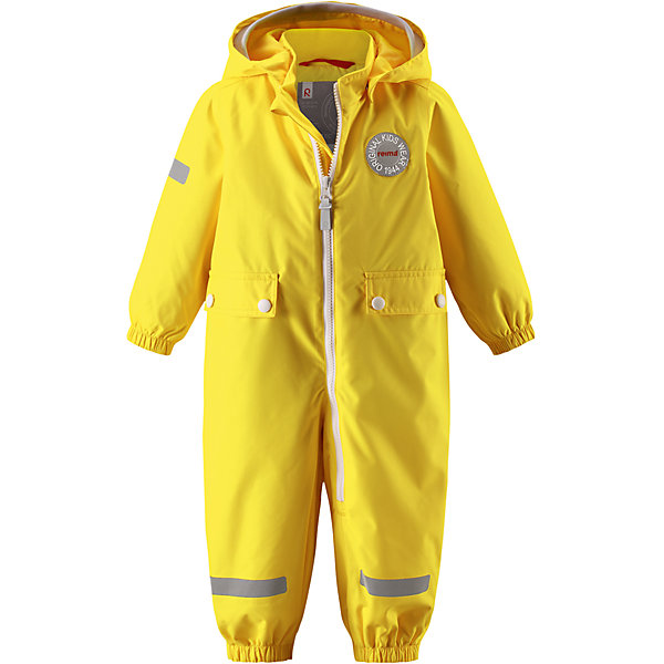 Комбинезон Fangan Reimatec® ReimaВерхняя одежда<br>Характеристики товара:<br><br>• цвет: желтый<br>• состав: 100% полиэстер, полиуретановое покрытие<br>• температурный режим: от 0° до +10°С<br>• легкий утеплитель: 80 гр/м2<br>• водонепроницаемость: 8000 мм<br>• воздухопроницаемость: 5000 мм<br>• износостойкость: 30000 циклов (тест Мартиндейла)<br>• основыне швы проклеены, водонепроницаемы<br>• водо- и ветронепроницаемый, дышащий, грязеотталкивающий материал<br>• гладкая подкладка из полиэстера<br>• безопасный съёмный капюшон<br>• мягкая резинка по краю капюшона<br>• эластичные манжеты<br>• талия регулируется изнутри<br>• эластичные манжеты на брючинах<br>• съёмные эластичные штрипки<br>• длинная застёжка на молнии облегчает надевание<br>• два накладных кармана<br>• комфортная посадка<br>• страна производства: Китай<br>• страна бренда: Финляндия<br>• коллекция: весна-лето 2017<br><br>Верхняя одежда для детей может быть модной и комфортной одновременно! Демисезонный комбинезон поможет обеспечить ребенку комфорт и тепло. Он отлично смотрится с различной обувью. Изделие удобно сидит и модно выглядит. Материал - прочный, хорошо подходящий для межсезонья, водо- и ветронепроницаемый, «дышащий». Стильный дизайн разрабатывался специально для детей.<br><br>Одежда и обувь от финского бренда Reima пользуется популярностью во многих странах. Эти изделия стильные, качественные и удобные. Для производства продукции используются только безопасные, проверенные материалы и фурнитура. Порадуйте ребенка модными и красивыми вещами от Reima! <br><br>Комбинезон Reimatec® от финского бренда Reima (Рейма) можно купить в нашем интернет-магазине.<br><br>Ширина мм: 356<br>Глубина мм: 10<br>Высота мм: 245<br>Вес г: 519<br>Цвет: желтый<br>Возраст от месяцев: 12<br>Возраст до месяцев: 18<br>Пол: Унисекс<br>Возраст: Детский<br>Размер: 86,92,98,80,74<br>SKU: 5265718