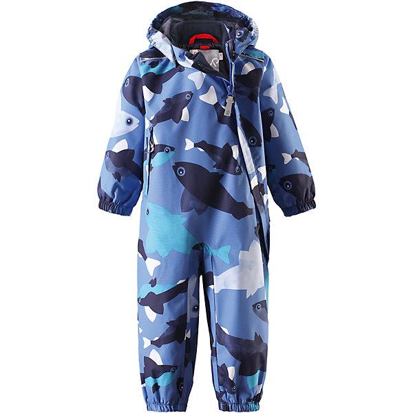 Комбинезон Nautilus для мальчика Reimatec® ReimaВерхняя одежда<br>Характеристики товара:<br><br>• цвет: голубой<br>• состав: 100% полиэстер, полиуретановое покрытие<br>• температурный режим: от +5° до +15°С<br>• водонепроницаемость: 15000 мм<br>• воздухопроницаемость: 5000 мм<br>• износостойкость: 35000 циклов (тест Мартиндейла)<br>• без утеплителя<br>• все швы проклеены, водонепроницаемы<br>• водо- и ветронепроницаемый, дышащий, грязеотталкивающий материал<br>• гладкая подкладка из полиэстера по всему изделию, mesh сетка на капюшоне<br>• безопасный съёмный капюшон<br>• эластичные манжеты<br>• прочные съёмные силиконовые штрипки<br>• длинная застежка на молнии облегчает надевание<br>• карман на молнии<br>• комфортная посадка<br>• страна производства: Китай<br>• страна бренда: Финляндия<br>• коллекция: весна-лето 2017<br><br>Верхняя одежда для детей может быть модной и комфортной одновременно! Демисезонный комбинезон поможет обеспечить ребенку комфорт и тепло. Он отлично смотрится с различной обувью. Изделие удобно сидит и модно выглядит. Материал - прочный, хорошо подходящий для межсезонья, водо- и ветронепроницаемый, «дышащий». Стильный дизайн разрабатывался специально для детей.<br><br>Одежда и обувь от финского бренда Reima пользуется популярностью во многих странах. Эти изделия стильные, качественные и удобные. Для производства продукции используются только безопасные, проверенные материалы и фурнитура. Порадуйте ребенка модными и красивыми вещами от Reima! <br><br>Комбинезон для мальчика Reimatec® от финского бренда Reima (Рейма) можно купить в нашем интернет-магазине.<br><br>Ширина мм: 356<br>Глубина мм: 10<br>Высота мм: 245<br>Вес г: 519<br>Цвет: синий<br>Возраст от месяцев: 6<br>Возраст до месяцев: 9<br>Пол: Мужской<br>Возраст: Детский<br>Размер: 74,80,86,92,98<br>SKU: 5265772