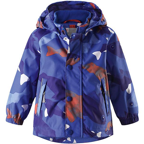 Куртка Nautilus Reimatec® ReimaВерхняя одежда<br>Характеристики товара:<br><br>• цвет: синий<br>• состав: 100% полиэстер, полиуретановое покрытие<br>• температурный режим: от +5° до +15°С<br>• без утеплителя<br>• водонепроницаемость: 10000 мм<br>• воздухопроницаемость: 5000 мм<br>• износостойкость: 40000 циклов (тест Мартиндейла)<br>• все швы проклеены, водонепроницаемы<br>• водо- и ветронепроницаемый, дышащий, грязеотталкивающий материал<br>• гладкая подкладка из полиэстера по всему изделию, mesh сетка на капюшоне<br>• безопасный съёмный и регулируемый капюшон<br>• эластичные манжеты<br>• регулируемый подол<br>• два кармана на молнии<br>• светоотражающие детали<br>• комфортная посадка<br>• страна производства: Китай<br>• страна бренда: Финляндия<br>• коллекция: весна-лето 2017<br><br>В межсезонье верхняя одежда для детей может быть модной и комфортной одновременно! Демисезонная куртка поможет обеспечить ребенку комфорт и тепло. Она отлично смотрится с различной одеждой и обувью. Изделие удобно сидит и модно выглядит. Материал - прочный, хорошо подходящий для межсезонья, водо- и ветронепроницаемый, «дышащий». Стильный дизайн разрабатывался специально для детей.<br><br>Одежда и обувь от финского бренда Reima пользуется популярностью во многих странах. Эти изделия стильные, качественные и удобные. Для производства продукции используются только безопасные, проверенные материалы и фурнитура. Порадуйте ребенка модными и красивыми вещами от Reima! <br><br>Куртку Reimatec® от финского бренда Reima (Рейма) можно купить в нашем интернет-магазине.<br>Ширина мм: 356; Глубина мм: 10; Высота мм: 245; Вес г: 519; Цвет: синий; Возраст от месяцев: 12; Возраст до месяцев: 18; Пол: Мужской; Возраст: Детский; Размер: 86,92,98,74,80; SKU: 5265814;
