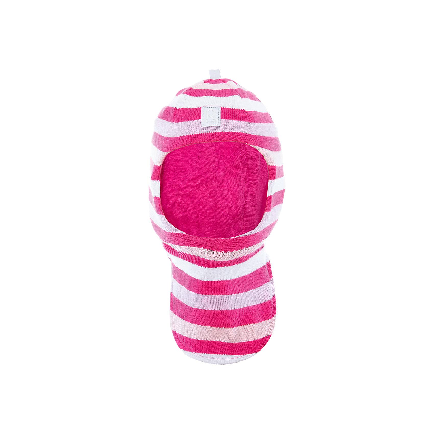 Шапка-шлем Ades ReimaШапки и шарфы<br>Характеристики товара:<br><br>• цвет: розовый/белый<br>• состав: 100% хлопок<br>• сплошная подкладка из хлопкового трикотажа<br>• температурный режим: от 0С<br>• эластичный хлопковый трикотаж<br>• изделие сертифицированно по стандарту Oeko-Tex на продукцию класса 1 - одежда для новорождённых<br>• эмблема Reima спереди<br>• светоотражающие детали<br>• страна бренда: Финляндия<br>• страна производства: Китай<br><br>Детский головной убор может быть модным и удобным одновременно! Стильная шапка поможет обеспечить ребенку комфорт и дополнить наряд. Шапка удобно сидит и аккуратно выглядит. Проста в уходе, долго служит. Стильный дизайн разрабатывался специально для детей. Отличная защита от дождя и ветра!<br><br>Уход:<br><br>• стирать по отдельности, вывернув наизнанку<br>• придать первоначальную форму вo влажном виде<br>• возможна усадка 5 %.<br><br>Шапку-шлем от финского бренда Reima (Рейма) можно купить в нашем интернет-магазине.<br><br>Ширина мм: 89<br>Глубина мм: 117<br>Высота мм: 44<br>Вес г: 155<br>Цвет: розовый<br>Возраст от месяцев: 6<br>Возраст до месяцев: 9<br>Пол: Унисекс<br>Возраст: Детский<br>Размер: 46,52,50,48<br>SKU: 5265837