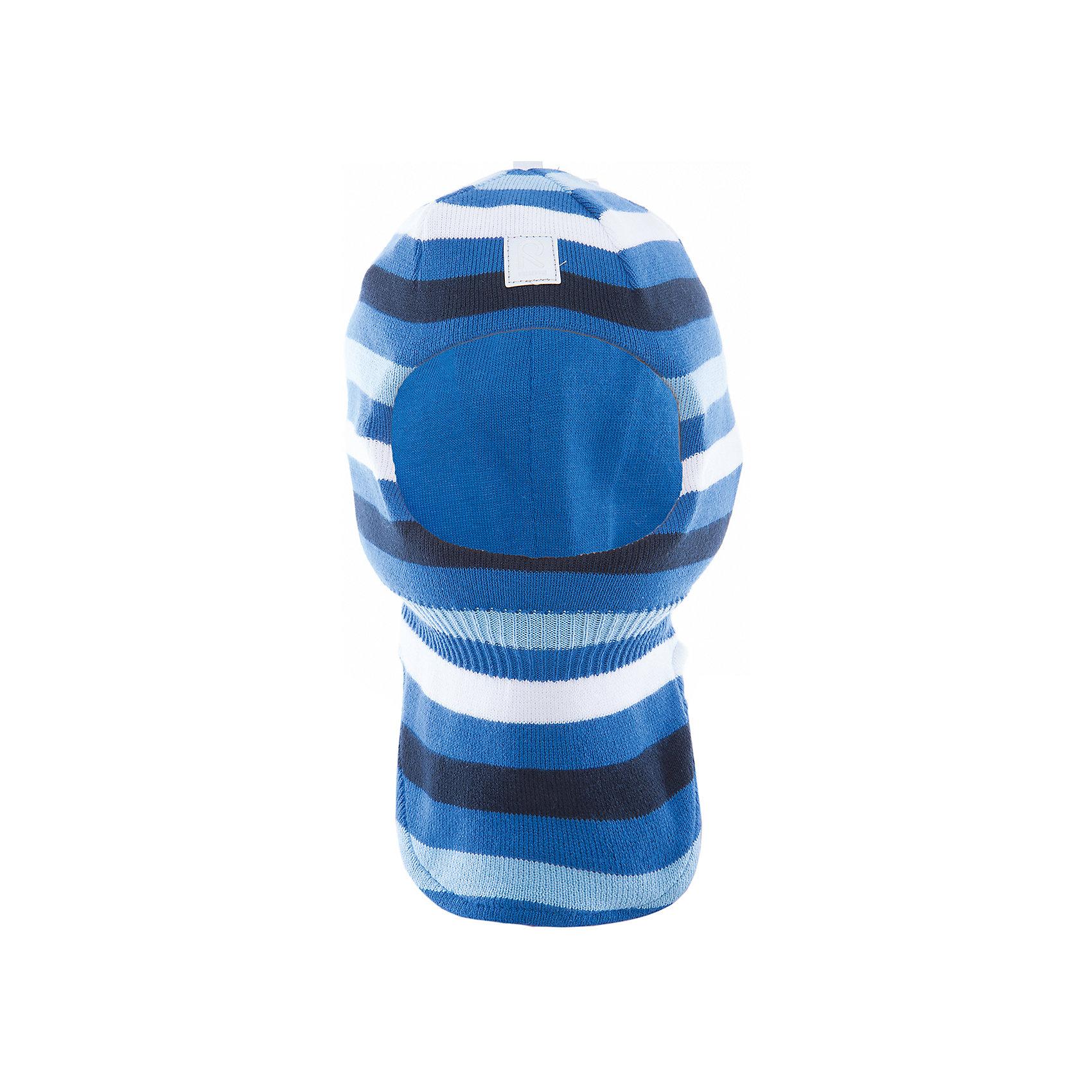 Шапка-шлем Ades ReimaШапки и шарфы<br>Характеристики товара:<br><br>• цвет: голубой<br>• состав: 100% хлопок<br>• сплошная подкладка из хлопкового трикотажа<br>• температурный режим: от 0С<br>• эластичный хлопковый трикотаж<br>• изделие сертифицированно по стандарту Oeko-Tex на продукцию класса 1 - одежда для новорождённых<br>• эмблема Reima спереди<br>• светоотражающие детали<br>• страна бренда: Финляндия<br>• страна производства: Китай<br><br>Детский головной убор может быть модным и удобным одновременно! Стильная шапка поможет обеспечить ребенку комфорт и дополнить наряд. Шапка удобно сидит и аккуратно выглядит. Проста в уходе, долго служит. Стильный дизайн разрабатывался специально для детей. Отличная защита от дождя и ветра!<br><br>Уход:<br><br>• стирать по отдельности, вывернув наизнанку<br>• придать первоначальную форму вo влажном виде<br>• возможна усадка 5 %.<br><br>Шапку-шлем от финского бренда Reima (Рейма) можно купить в нашем интернет-магазине.<br><br>Ширина мм: 89<br>Глубина мм: 117<br>Высота мм: 44<br>Вес г: 155<br>Цвет: синий<br>Возраст от месяцев: 6<br>Возраст до месяцев: 9<br>Пол: Унисекс<br>Возраст: Детский<br>Размер: 46,52,50,48<br>SKU: 5265842