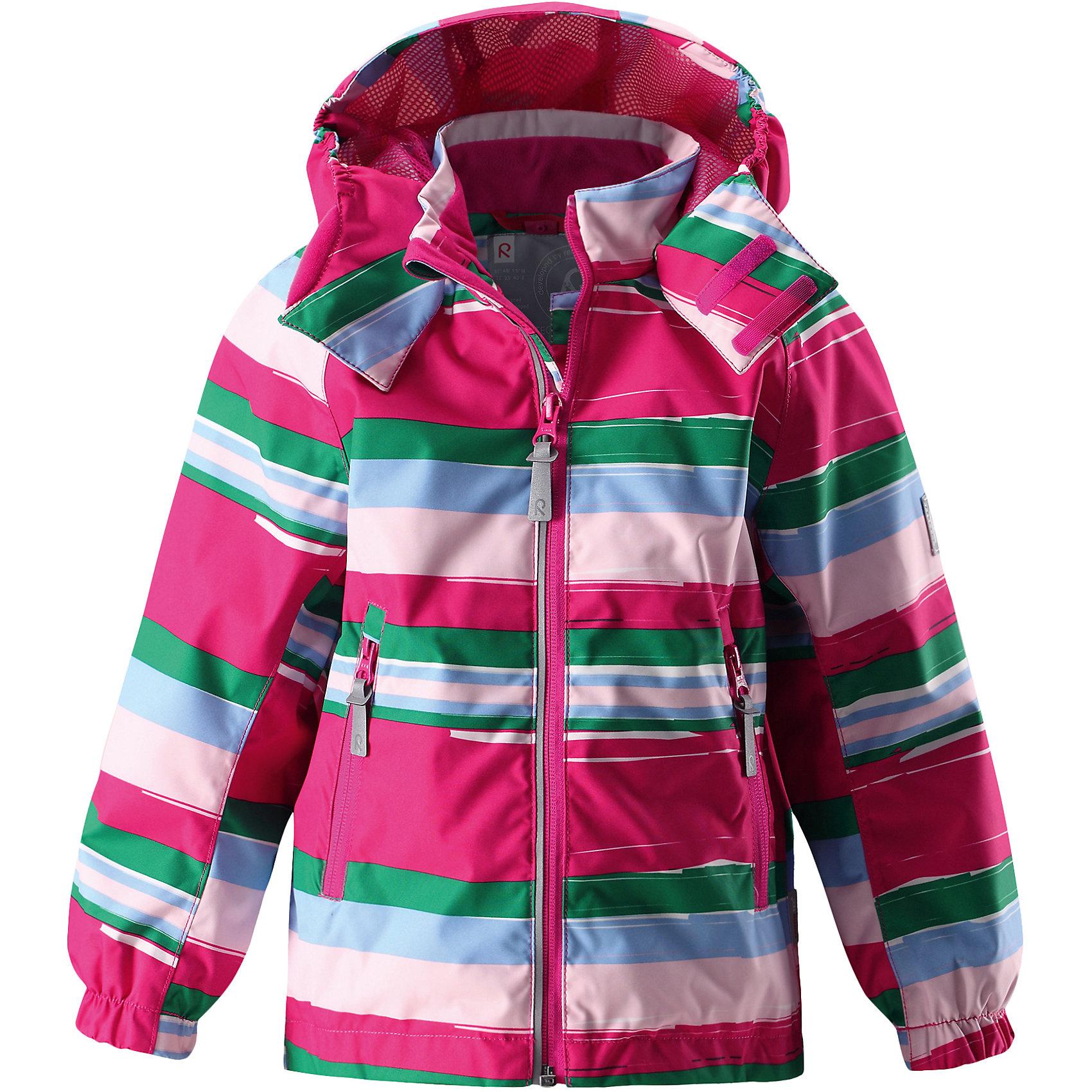 Куртка Tour для девочки Reimatec® ReimaОдежда<br>Характеристики товара:<br><br>• цвет: розовый<br>• состав: 100% полиэстер, полиуретановое покрытие<br>• температурный режим: от +5° до +15°С<br>• водонепроницаемость: 15000 мм<br>• воздухопроницаемость: 5000 мм<br>• износостойкость: 40000 циклов (тест Мартиндейла)<br>• без утеплителя<br>• основные швы проклеены, водонепроницаемы<br>• водо- и ветронепроницаемый, дышащий, грязеотталкивающий материал<br>• подкладка из mesh-сетки<br>• безопасный съёмный и регулируемый капюшон<br>• эластичные манжеты<br>• два кармана на молнии<br>• регулируемый подол<br>• светоотражающие детали<br>• комфортная посадка<br>• страна производства: Китай<br>• страна бренда: Финляндия<br>• коллекция: весна-лето 2017<br><br>В межсезонье верхняя одежда для детей может быть модной и комфортной одновременно! Демисезонная куртка поможет обеспечить ребенку комфорт и тепло. Она отлично смотрится с различной одеждой и обувью. Изделие удобно сидит и модно выглядит. Материал - прочный, хорошо подходящий для межсезонья, водо- и ветронепроницаемый, «дышащий». Стильный дизайн разрабатывался специально для детей.<br><br>Одежда и обувь от финского бренда Reima пользуется популярностью во многих странах. Эти изделия стильные, качественные и удобные. Для производства продукции используются только безопасные, проверенные материалы и фурнитура. Порадуйте ребенка модными и красивыми вещами от Reima! <br><br>Куртку для девочки Reimatec® от финского бренда Reima (Рейма) можно купить в нашем интернет-магазине.<br><br>Ширина мм: 356<br>Глубина мм: 10<br>Высота мм: 245<br>Вес г: 519<br>Цвет: розовый<br>Возраст от месяцев: 72<br>Возраст до месяцев: 84<br>Пол: Женский<br>Возраст: Детский<br>Размер: 122,110,128,98,116,104,92<br>SKU: 5265988