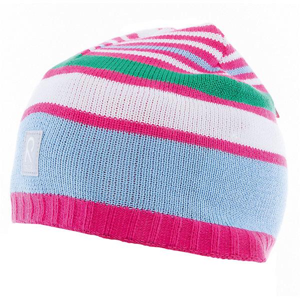 Шапка Datoline ReimaШапки и шарфы<br>Характеристики товара:<br><br>• цвет: розовый/белый<br>• состав: 100% хлопок<br>• полуподкладка: хлопковый трикотаж<br>• температурный режим: от 0С до +15С<br>• эластичный хлопковый трикотаж<br>• изделие сертифицированно по стандарту Oeko-Tex на продукцию класса 2 - одежда, контактирующая с кожей<br>• ветронепроницаемые вставки в области ушей<br>• эмблема Reima спереди<br>• светоотражающая эмблема спереди<br>• страна бренда: Финляндия<br>• страна производства: Китай<br><br>Детский головной убор может быть модным и удобным одновременно! Стильная шапка поможет обеспечить ребенку комфорт и дополнить наряд. Шапка удобно сидит и аккуратно выглядит. Проста в уходе, долго служит. Стильный дизайн разрабатывался специально для детей. Отличная защита от дождя и ветра!<br><br>Уход:<br><br>• стирать по отдельности, вывернув наизнанку<br>• придать первоначальную форму вo влажном виде<br>• возможна усадка 5 %.<br><br>Шапку от финского бренда Reima (Рейма) можно купить в нашем интернет-магазине.<br><br>Ширина мм: 89<br>Глубина мм: 117<br>Высота мм: 44<br>Вес г: 155<br>Цвет: розовый<br>Возраст от месяцев: 84<br>Возраст до месяцев: 144<br>Пол: Унисекс<br>Возраст: Детский<br>Размер: 56,50,52,54<br>SKU: 5266099