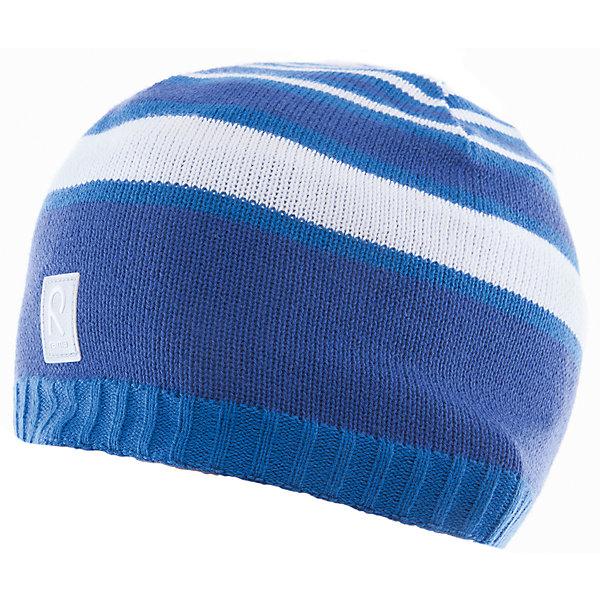 Шапка Datoline ReimaШапки и шарфы<br>Характеристики товара:<br><br>• цвет: синий/белый<br>• состав: 100% хлопок<br>• полуподкладка: хлопковый трикотаж<br>• температурный режим: от 0С до +15С<br>• эластичный хлопковый трикотаж<br>• изделие сертифицированно по стандарту Oeko-Tex на продукцию класса 2 - одежда, контактирующая с кожей<br>• ветронепроницаемые вставки в области ушей<br>• эмблема Reima спереди<br>• светоотражающая эмблема спереди<br>• страна бренда: Финляндия<br>• страна производства: Китай<br><br>Детский головной убор может быть модным и удобным одновременно! Стильная шапка поможет обеспечить ребенку комфорт и дополнить наряд. Шапка удобно сидит и аккуратно выглядит. Проста в уходе, долго служит. Стильный дизайн разрабатывался специально для детей. Отличная защита от дождя и ветра!<br><br>Уход:<br><br>• стирать по отдельности, вывернув наизнанку<br>• придать первоначальную форму вo влажном виде<br>• возможна усадка 5 %.<br><br>Шапку от финского бренда Reima (Рейма) можно купить в нашем интернет-магазине.<br>Ширина мм: 89; Глубина мм: 117; Высота мм: 44; Вес г: 155; Цвет: синий; Возраст от месяцев: 24; Возраст до месяцев: 60; Пол: Унисекс; Возраст: Детский; Размер: 52,56,50,54; SKU: 5266104;
