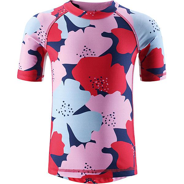 Футболка пляжная Fiji для девочки ReimaКупальники и плавки<br>Характеристики товара:<br><br>• цвет: красно-розовый принт<br>• состав: 80% полиамид, 20% эластан<br>• фактор защиты от ультрафиолета: 50+<br>• удлиненная сзади <br>• рукава до локтя<br>• декорирована принтом<br>• комфортная посадка<br>• страна производства: Китай<br>• страна бренда: Финляндия<br>• коллекция: весна-лето 2017<br><br>Одежда для лета и пляжного отдыха может быть модной и комфортной одновременно! Удобная симпатичная футболка SunProof поможет обеспечить ребенку комфорт - она не стесняет движения и обеспечивает защиту от ультрафиолета. Модель стильно смотрится, отлично сочетается с различными головными уборами и обувью. Стильный дизайн разрабатывался специально для детей.<br><br>Одежда и обувь от финского бренда Reima пользуется популярностью во многих странах. Эти изделия стильные, качественные и удобные. Для производства продукции используются только безопасные, проверенные материалы и фурнитура. Порадуйте ребенка модными и красивыми вещами от Reima! <br><br>Футболку SunProof для мальчика от финского бренда Reima (Рейма) можно купить в нашем интернет-магазине.<br>Ширина мм: 183; Глубина мм: 60; Высота мм: 135; Вес г: 119; Цвет: розовый; Возраст от месяцев: 36; Возраст до месяцев: 48; Пол: Женский; Возраст: Детский; Размер: 104,98,140,122,134,128,116,110; SKU: 5266650;