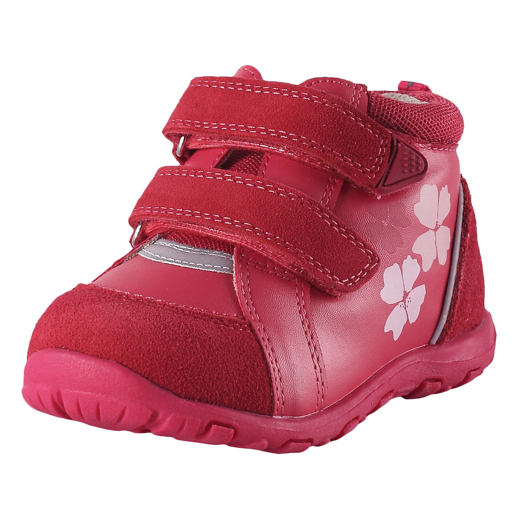 Полуботинки Lotte для девочки ReimaОбувь<br>Характеристики товара:<br><br>• цвет: розовый<br>• состав: верх - 60% полиуретан, 30% кожа, 10% полиэстер, подошва - 100% термопластичная резина<br>• застежка: липучка<br>• устойчивая подошва<br>• декорированы принтом<br>• усиленная пятка и носок<br>• светоотражающие детали<br>• страна производства: Китай<br>• страна бренда: Финляндия<br>• коллекция: весна-лето 2017<br><br>Детская обувь может быть модной и комфортной одновременно! Удобные стильные полуботинки помогут обеспечить ребенку комфорт и дополнить наряд. Они отлично смотрятся с различной одеждой. Полуботинки удобно сидят на ноге и аккуратно смотрятся. Легко чистятся и долго служат. Продуманная конструкция разрабатывалась специально для детей.<br><br>Одежда и обувь от финского бренда Reima пользуется популярностью во многих странах. Эти изделия стильные, качественные и удобные. Для производства продукции используются только безопасные, проверенные материалы и фурнитура. Порадуйте ребенка модными и красивыми вещами от Reima! <br><br>Полуботинки от финского бренда Reima (Рейма) можно купить в нашем интернет-магазине.<br><br>Ширина мм: 262<br>Глубина мм: 176<br>Высота мм: 97<br>Вес г: 427<br>Цвет: розовый<br>Возраст от месяцев: 36<br>Возраст до месяцев: 48<br>Пол: Женский<br>Возраст: Детский<br>Размер: 27,22,20,21,23,24,25,26<br>SKU: 5266756