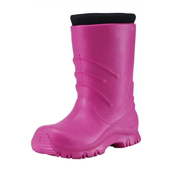 Резиновые сапоги Frillo Rainboot Reima для мальчикаОбувь<br>Характеристики товара:<br><br>• цвет: розовый<br>• внешний материал: ЭВА<br>• внутренний материал: текстиль<br>• стелька: текстиль<br>• подошва: ЭВА<br>• температурный режим: от +5°до +20°С<br>• водонепроницаемая мембрана свыше 12000 мм<br>• водонепроницаемый материал<br>• съёмный внутренний сапожок<br>• можно носить как с сапожком так и без него<br>• очень лёгкие<br>• хорошее сцепление с поверхностью<br>• страна бренда: Финляндия<br>• страна производства: Китай<br><br>Детская обувь может быть модной и комфортной одновременно! Удобные стильные сапоги-веллингтоны помогут обеспечить ребенку комфорт во время непогоды и межсезонья. Они отлично смотрятся с различной одеждой. Сапоги очень легкие, удобно сидят на ноге и аккуратно смотрятся. Легко чистятся и долго служат. Продуманная конструкция разрабатывалась специально для детей.<br><br>Сапоги от финского бренда Reima (Рейма) можно купить в нашем интернет-магазине.<br>Ширина мм: 237; Глубина мм: 180; Высота мм: 152; Вес г: 438; Цвет: розовый; Возраст от месяцев: 72; Возраст до месяцев: 84; Пол: Женский; Возраст: Детский; Размер: 30,28,26,24,22,32,34; SKU: 5266782;