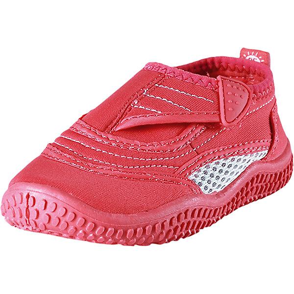 Коралловые тапочки Aqua для плавания Reima для девочкиОбувь<br>Характеристики товара:<br><br>• цвет: розовый<br>• состав: верх - ПЭ, подошва - термопластичная резина<br>• застежка: липучка<br>• устойчивая легкая подошва ЭВА<br>• модель из солнцезащитного материала SunProof<br>• съемные стельки с рисунком Happy Fit, помогающие определить размер<br>• фактор защиты от ультрафиолета: 50+<br>• хорошее сцепление с поверхностью<br>• можно стирать в машине при температуре 30 °C<br>• страна производства: Китай<br>• страна бренда: Финляндия<br>• коллекция: весна-лето 2017<br><br>Детская обувь может быть модной и комфортной одновременно! Удобные стильные сандали для плавания помогут обеспечить ребенку комфорт и дополнить наряд. Они отлично смотрятся с различной одеждой. Сандали для плавания удобно сидят на ноге и аккуратно смотрятся. Легко чистятся и долго служат. Продуманная конструкция разрабатывалась специально для детей.<br><br>Одежда и обувь от финского бренда Reima пользуется популярностью во многих странах. Эти изделия стильные, качественные и удобные. Для производства продукции используются только безопасные, проверенные материалы и фурнитура. Порадуйте ребенка модными и красивыми вещами от Reima! <br><br>Сандали для плавания от финского бренда Reima (Рейма) можно купить в нашем интернет-магазине.<br>Ширина мм: 227; Глубина мм: 145; Высота мм: 124; Вес г: 325; Цвет: розовый; Возраст от месяцев: 132; Возраст до месяцев: 144; Пол: Женский; Возраст: Детский; Размер: 34,32,31,28,26,30,29,37,25,27,24,36,35,33,38; SKU: 5266965;