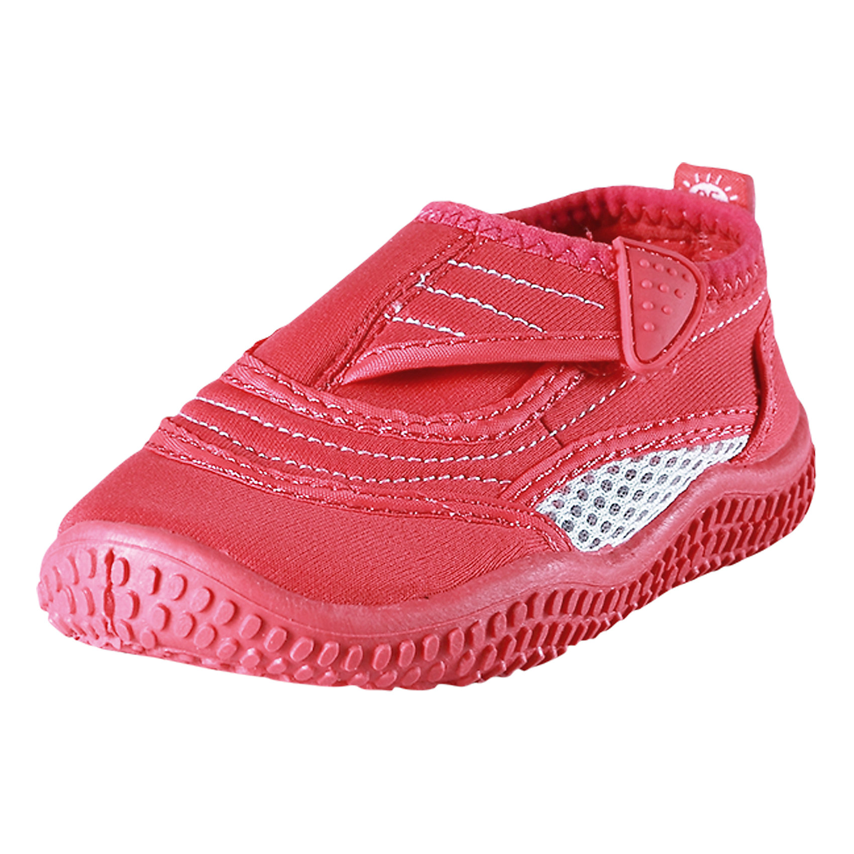 Коралловые тапочки Aqua для плавания ReimaПляжная обувь<br>Характеристики товара:<br><br>• цвет: розовый<br>• состав: верх - ПЭ, подошва - термопластичная резина<br>• застежка: липучка<br>• устойчивая легкая подошва ЭВА<br>• модель из солнцезащитного материала SunProof<br>• съемные стельки с рисунком Happy Fit, помогающие определить размер<br>• фактор защиты от ультрафиолета: 50+<br>• хорошее сцепление с поверхностью<br>• можно стирать в машине при температуре 30 °C<br>• страна производства: Китай<br>• страна бренда: Финляндия<br>• коллекция: весна-лето 2017<br><br>Детская обувь может быть модной и комфортной одновременно! Удобные стильные сандали для плавания помогут обеспечить ребенку комфорт и дополнить наряд. Они отлично смотрятся с различной одеждой. Сандали для плавания удобно сидят на ноге и аккуратно смотрятся. Легко чистятся и долго служат. Продуманная конструкция разрабатывалась специально для детей.<br><br>Одежда и обувь от финского бренда Reima пользуется популярностью во многих странах. Эти изделия стильные, качественные и удобные. Для производства продукции используются только безопасные, проверенные материалы и фурнитура. Порадуйте ребенка модными и красивыми вещами от Reima! <br><br>Сандали для плавания от финского бренда Reima (Рейма) можно купить в нашем интернет-магазине.<br><br>Ширина мм: 227<br>Глубина мм: 145<br>Высота мм: 124<br>Вес г: 325<br>Цвет: розовый<br>Возраст от месяцев: 96<br>Возраст до месяцев: 108<br>Пол: Женский<br>Возраст: Детский<br>Размер: 32,24,38,27,25,37,30,26,28,29,31,35,34,33,36<br>SKU: 5266965