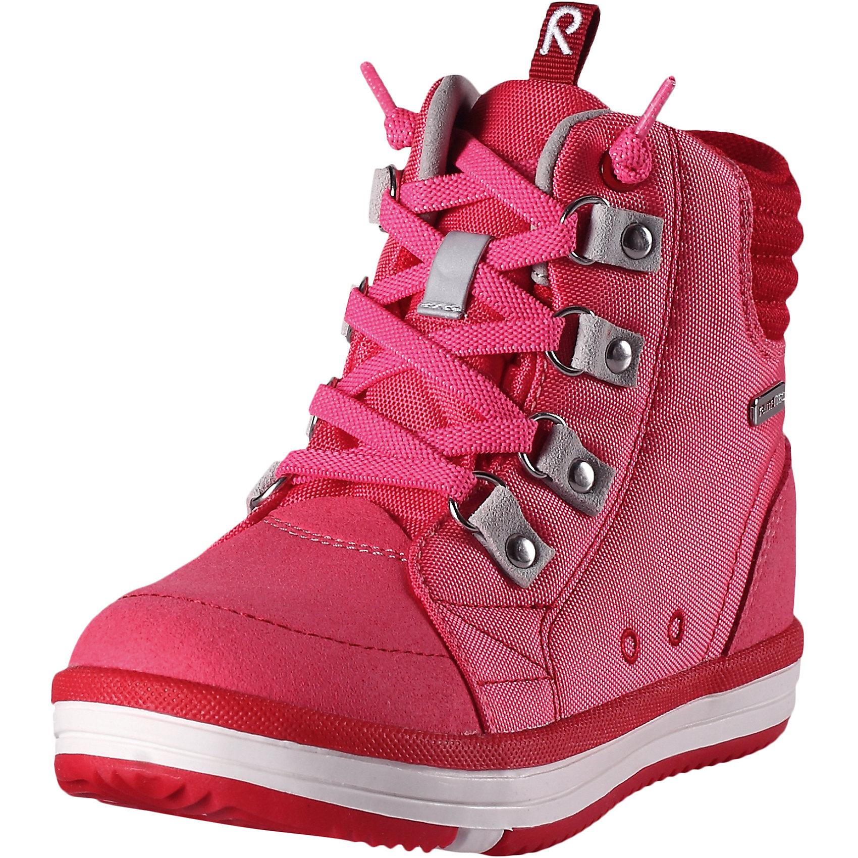 Ботинки Wetter Wash Reimatec® ReimaХарактеристики товара:<br><br>• цвет: розовый<br>• состав: верх - ПЭ/ПУ, подошва - термопластичная резина<br>• температурный режим: от +5°до +15°С<br>• застежка: шнуровка<br>• демисезонные<br>• устойчивая подошва<br>• светоотражающие детали<br>• съемные стельки с рисунком Happy Fit, помогающие определить размер<br>• светоотражающие детали<br>• с подкладкой из искусственного меха<br>• усиленная пятка и носок<br>• водонепроницаемая конструкция с герметичными вставками<br>• можно стирать в машине при температуре 30 °C<br>• страна производства: Китай<br>• страна бренда: Финляндия<br>• коллекция: весна-лето 2017<br><br>Детская демисезонная обувь может быть модной и комфортной одновременно! Удобные стильные ботинки помогут обеспечить ребенку комфорт и дополнить наряд. Они отлично смотрятся с различной одеждой. Ботинки Reimatec® удобно сидят на ноге и аккуратно смотрятся. Легко чистятся и долго служат. Продуманная конструкция разрабатывалась специально для детей.<br><br>Одежда и обувь от финского бренда Reima пользуется популярностью во многих странах. Эти изделия стильные, качественные и удобные. Для производства продукции используются только безопасные, проверенные материалы и фурнитура. Порадуйте ребенка модными и красивыми вещами от Reima! <br><br>Ботинки Reimatec® от финского бренда Reima (Рейма) можно купить в нашем интернет-магазине.<br><br>Ширина мм: 262<br>Глубина мм: 176<br>Высота мм: 97<br>Вес г: 427<br>Цвет: красный<br>Возраст от месяцев: 108<br>Возраст до месяцев: 120<br>Пол: Женский<br>Возраст: Детский<br>Размер: 33,24,27,28,26,35,36,29,31,34,37,38,30,25,32<br>SKU: 5267229