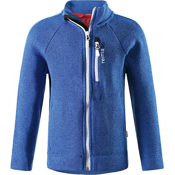 Куртка Reimari флисовая для мальчика ReimaОдежда<br>Характеристики товара:<br><br>• цвет: синий<br>• состав: 100% полиэстер<br>• карман с разъёмом для датчика ReimaGO®<br>• мягкий вязаный меланжевый флис<br>• выглядит как кофта, но имеет все преимущества флиса<br>• молния во всю длину со вставкой для защиты подбородка<br>• приятная на ощупь ткань<br>• два боковых кармана<br>• комфортная посадка<br>• страна производства: Китай<br>• страна бренда: Финляндия<br>• коллекция: весна-лето 2017<br><br>Одежда для детей может быть модной и комфортной одновременно! Удобная курточка поможет обеспечить ребенку комфорт и тепло. Изделие сшито из флиса - мягкого и теплого материала, приятного на ощупь. Модель стильно смотрится, отлично сочетается с различным низом. Стильный дизайн разрабатывался специально для детей.<br><br>Одежда и обувь от финского бренда Reima пользуется популярностью во многих странах. Эти изделия стильные, качественные и удобные. Для производства продукции используются только безопасные, проверенные материалы и фурнитура. Порадуйте ребенка модными и красивыми вещами от Reima! <br><br>Куртку флисовую для мальчика от финского бренда Reima (Рейма) можно купить в нашем интернет-магазине.<br>Ширина мм: 356; Глубина мм: 10; Высота мм: 245; Вес г: 519; Цвет: синий; Возраст от месяцев: 72; Возраст до месяцев: 84; Пол: Мужской; Возраст: Детский; Размер: 122,152,134,128,140,116,110,146,158; SKU: 5267411;