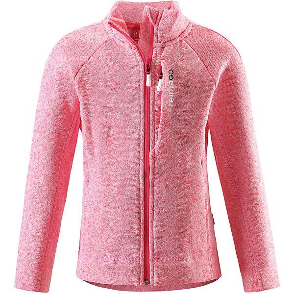Толстовка Reimari флисовая для девочки ReimaОдежда<br>Характеристики товара:<br><br>• цвет: розовый<br>• состав: 100% полиэстер<br>• карман с разъёмом для датчика ReimaGO®<br>• мягкий вязаный меланжевый флис<br>• выглядит как кофта, но имеет все преимущества флиса<br>• молния во всю длину со вставкой для защиты подбородка<br>• приятная на ощупь ткань<br>• два боковых кармана<br>• комфортная посадка<br>• страна производства: Китай<br>• страна бренда: Финляндия<br>• коллекция: весна-лето 2017<br><br>Одежда для детей может быть модной и комфортной одновременно! Удобная курточка поможет обеспечить ребенку комфорт и тепло. Изделие сшито из флиса - мягкого и теплого материала, приятного на ощупь. Модель стильно смотрится, отлично сочетается с различным низом. Стильный дизайн разрабатывался специально для детей.<br><br>Одежда и обувь от финского бренда Reima пользуется популярностью во многих странах. Эти изделия стильные, качественные и удобные. Для производства продукции используются только безопасные, проверенные материалы и фурнитура. Порадуйте ребенка модными и красивыми вещами от Reima! <br><br>Куртку флисовую для мальчика от финского бренда Reima (Рейма) можно купить в нашем интернет-магазине.<br><br>Ширина мм: 356<br>Глубина мм: 10<br>Высота мм: 245<br>Вес г: 519<br>Цвет: розовый<br>Возраст от месяцев: 84<br>Возраст до месяцев: 96<br>Пол: Женский<br>Возраст: Детский<br>Размер: 134,128,122,116,110,146,158,152,140<br>SKU: 5267421