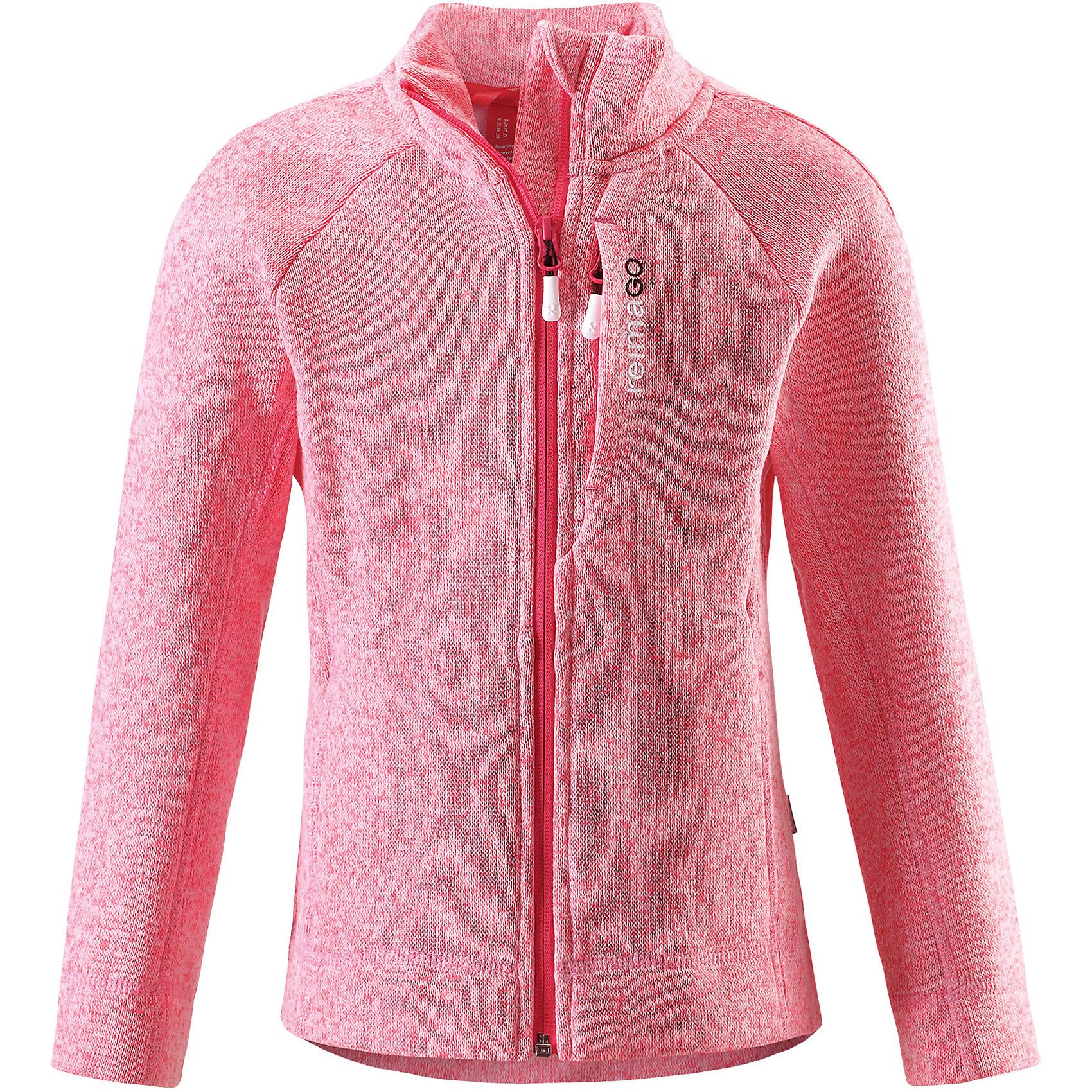 Толстовка Reimari флисовая для девочки ReimaОдежда<br>Характеристики товара:<br><br>• цвет: розовый<br>• состав: 100% полиэстер<br>• карман с разъёмом для датчика ReimaGO®<br>• мягкий вязаный меланжевый флис<br>• выглядит как кофта, но имеет все преимущества флиса<br>• молния во всю длину со вставкой для защиты подбородка<br>• приятная на ощупь ткань<br>• два боковых кармана<br>• комфортная посадка<br>• страна производства: Китай<br>• страна бренда: Финляндия<br>• коллекция: весна-лето 2017<br><br>Одежда для детей может быть модной и комфортной одновременно! Удобная курточка поможет обеспечить ребенку комфорт и тепло. Изделие сшито из флиса - мягкого и теплого материала, приятного на ощупь. Модель стильно смотрится, отлично сочетается с различным низом. Стильный дизайн разрабатывался специально для детей.<br><br>Одежда и обувь от финского бренда Reima пользуется популярностью во многих странах. Эти изделия стильные, качественные и удобные. Для производства продукции используются только безопасные, проверенные материалы и фурнитура. Порадуйте ребенка модными и красивыми вещами от Reima! <br><br>Куртку флисовую для мальчика от финского бренда Reima (Рейма) можно купить в нашем интернет-магазине.<br><br>Ширина мм: 356<br>Глубина мм: 10<br>Высота мм: 245<br>Вес г: 519<br>Цвет: розовый<br>Возраст от месяцев: 120<br>Возраст до месяцев: 132<br>Пол: Женский<br>Возраст: Детский<br>Размер: 146,110,116,122,128,134,140,152,158<br>SKU: 5267421