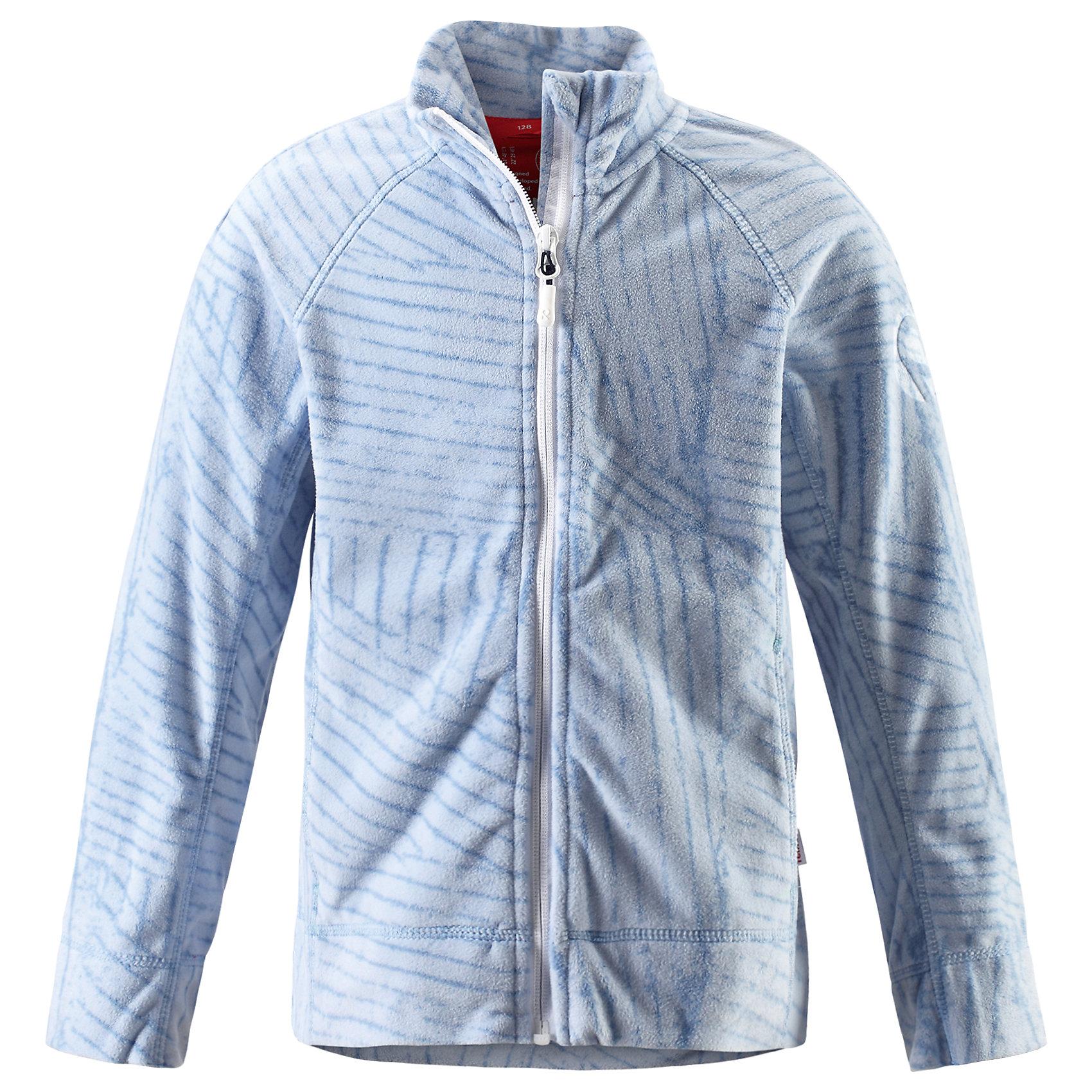Куртка Piiru флисовая для девочки ReimaФлис и термобелье<br>Характеристики товара:<br><br>• цвет: голубой<br>• состав: 100% полиэстер<br>• теплый, легкий и быстросохнущий микрофлис<br>• молния во всю длину со вставкой для защиты подбородка<br>• приятная на ощупь ткань<br>• два боковых кармана<br>• комфортная посадка<br>• с отделкой горячим тиснением<br>• страна производства: Китай<br>• страна бренда: Финляндия<br>• коллекция: весна-лето 2017<br><br>Одежда для детей может быть модной и комфортной одновременно! Удобная курточка поможет обеспечить ребенку комфорт и тепло. Изделие сшито из микрофлиса - мягкого и теплого материала, приятного на ощупь. Модель стильно смотрится, отлично сочетается с различным низом. Стильный дизайн разрабатывался специально для детей.<br><br>Одежда и обувь от финского бренда Reima пользуется популярностью во многих странах. Эти изделия стильные, качественные и удобные. Для производства продукции используются только безопасные, проверенные материалы и фурнитура. Порадуйте ребенка модными и красивыми вещами от Reima! <br><br>Куртку флисовую для девочки от финского бренда Reima (Рейма) можно купить в нашем интернет-магазине.<br><br>Ширина мм: 356<br>Глубина мм: 10<br>Высота мм: 245<br>Вес г: 519<br>Цвет: синий<br>Возраст от месяцев: 72<br>Возраст до месяцев: 84<br>Пол: Женский<br>Возраст: Детский<br>Размер: 122,140,146,152,158,110,134,128,116<br>SKU: 5267441