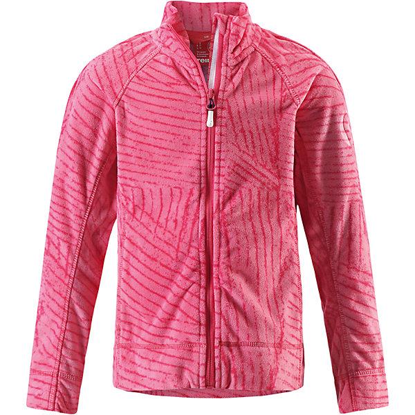Куртка Piiru флисовая для девочки ReimaФлис и термобелье<br>Характеристики товара:<br><br>• цвет: розовый<br>• состав: 100% полиэстер<br>• теплый, легкий и быстросохнущий микрофлис<br>• молния во всю длину со вставкой для защиты подбородка<br>• приятная на ощупь ткань<br>• два боковых кармана<br>• комфортная посадка<br>• с отделкой горячим тиснением<br>• страна производства: Китай<br>• страна бренда: Финляндия<br>• коллекция: весна-лето 2017<br><br>Одежда для детей может быть модной и комфортной одновременно! Удобная курточка поможет обеспечить ребенку комфорт и тепло. Изделие сшито из микрофлиса - мягкого и теплого материала, приятного на ощупь. Модель стильно смотрится, отлично сочетается с различным низом. Стильный дизайн разрабатывался специально для детей.<br><br>Одежда и обувь от финского бренда Reima пользуется популярностью во многих странах. Эти изделия стильные, качественные и удобные. Для производства продукции используются только безопасные, проверенные материалы и фурнитура. Порадуйте ребенка модными и красивыми вещами от Reima! <br><br>Куртку флисовую для девочки от финского бренда Reima (Рейма) можно купить в нашем интернет-магазине.<br><br>Ширина мм: 356<br>Глубина мм: 10<br>Высота мм: 245<br>Вес г: 519<br>Цвет: розовый<br>Возраст от месяцев: 84<br>Возраст до месяцев: 96<br>Пол: Женский<br>Возраст: Детский<br>Размер: 128,104,140,116,146,152,158,110,122,134<br>SKU: 5267451
